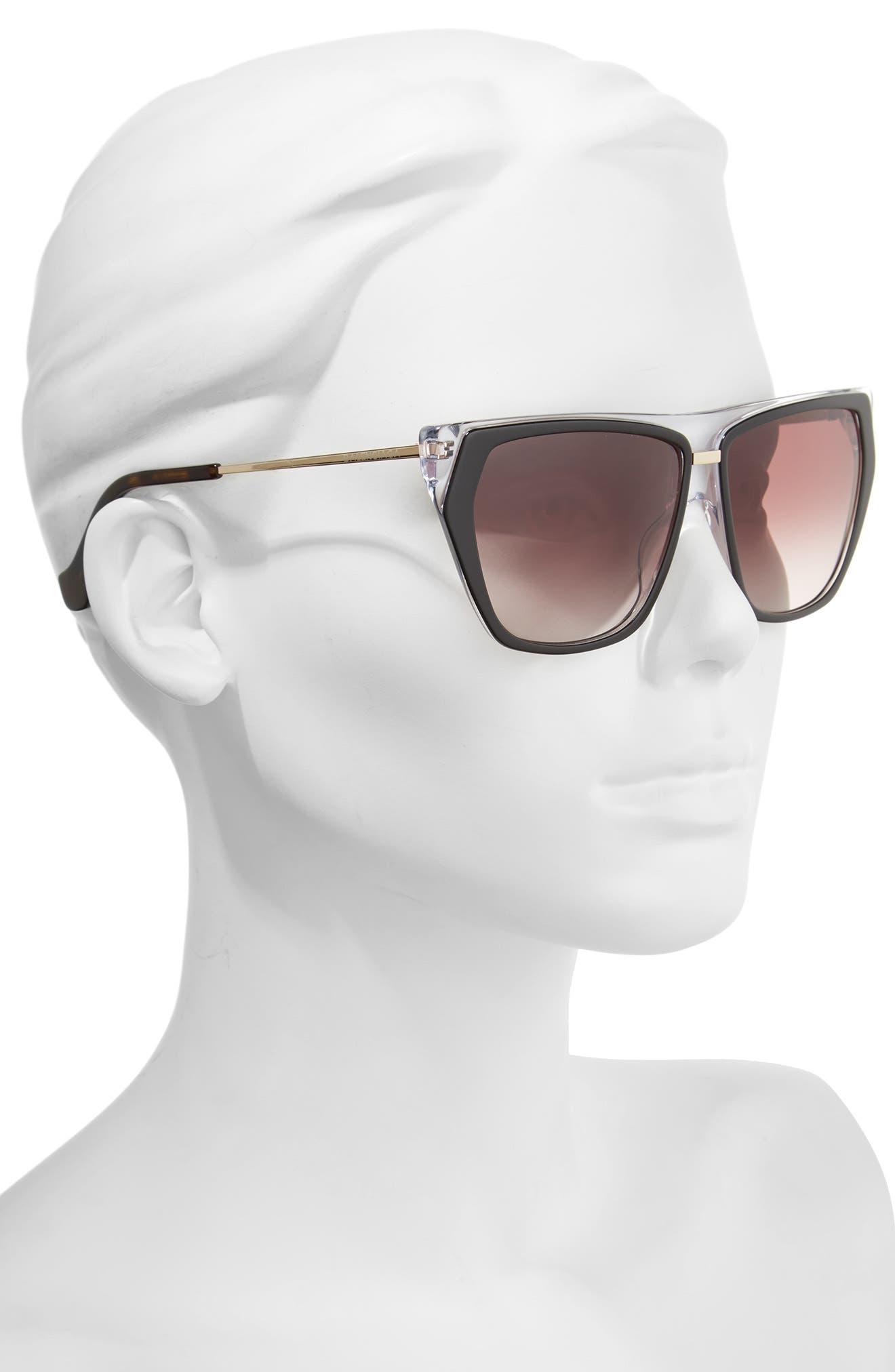 Alternate Image 2  - Balenciaga 58mm Gradient Sunglasses