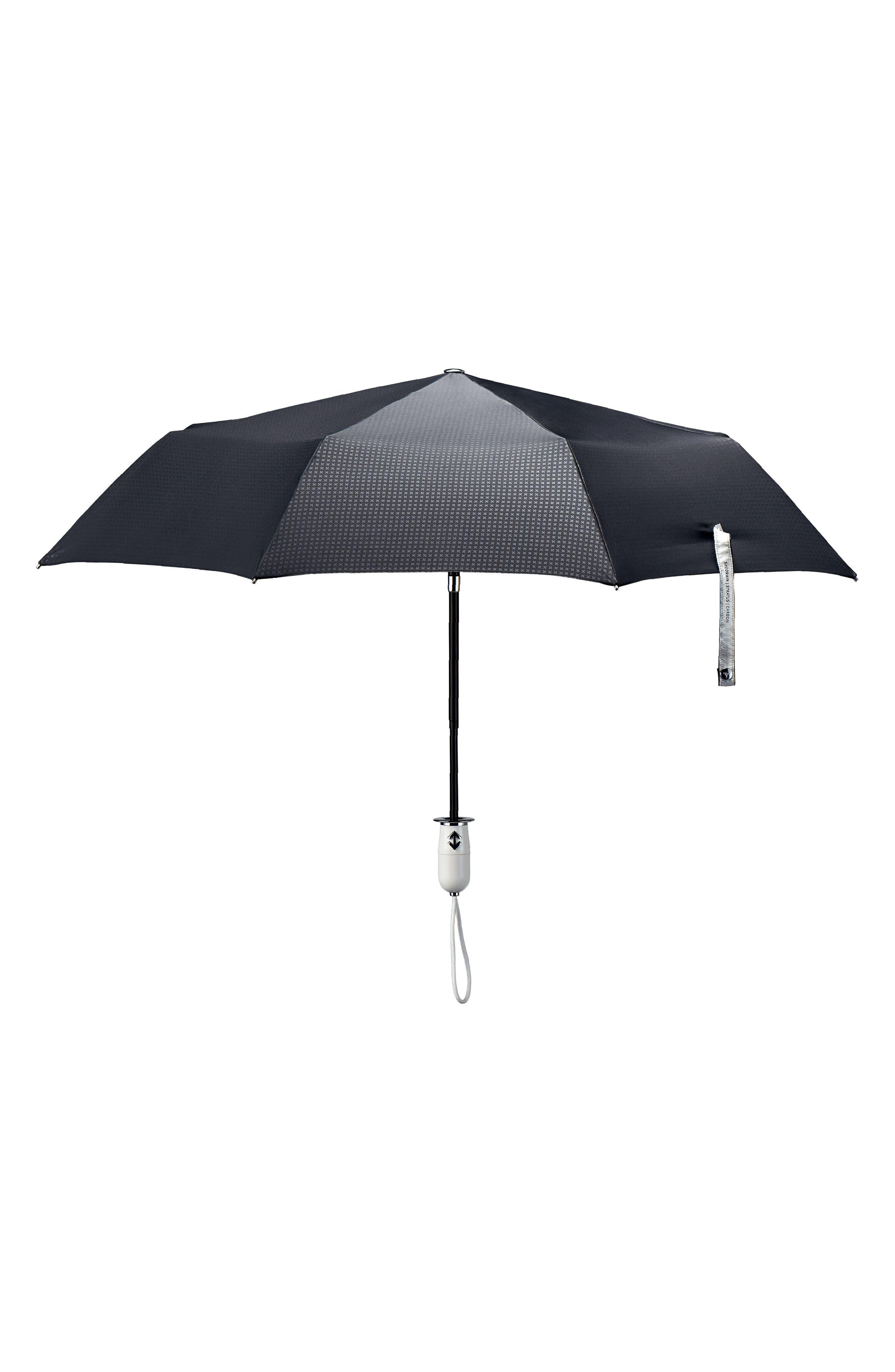 Stratus Auto Open Stick Umbrella,                         Main,                         color, Black/ Piano White