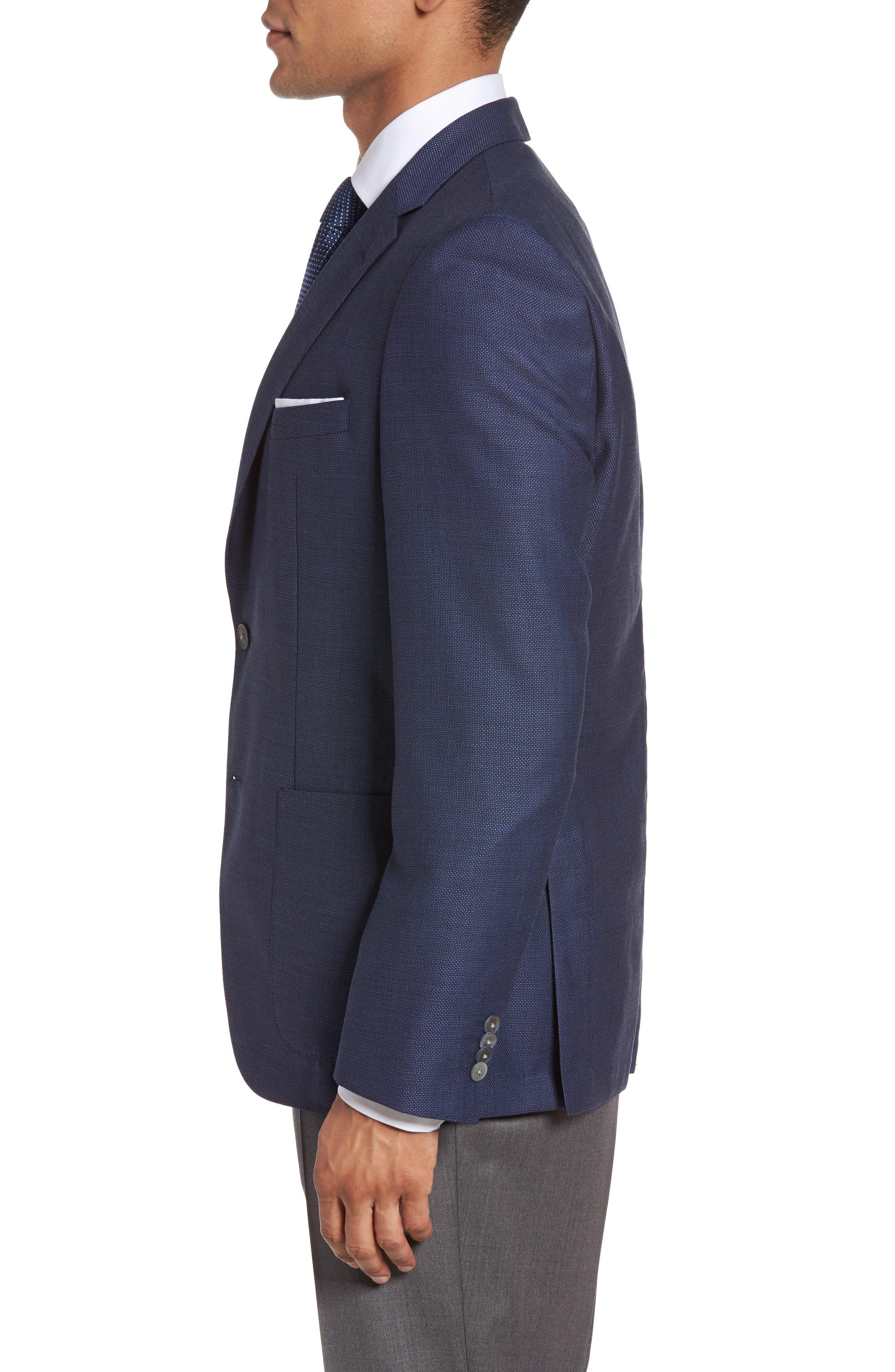 Alternate Image 3  - BOSS Janson Trim Fit Textured Wool Sport Coat