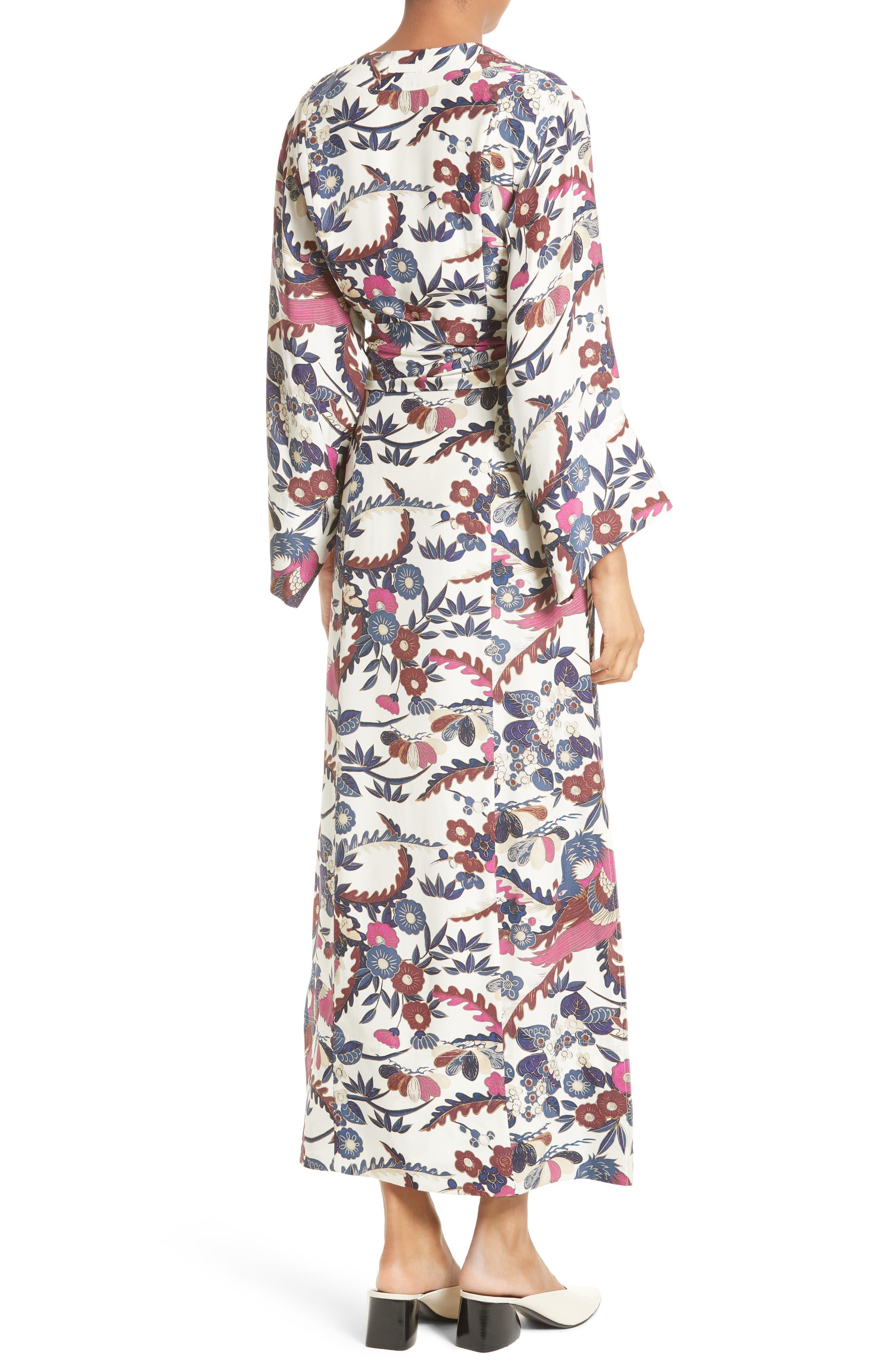 Howe Kimono Wrap Dress,                             Alternate thumbnail 2, color,                             Ivory