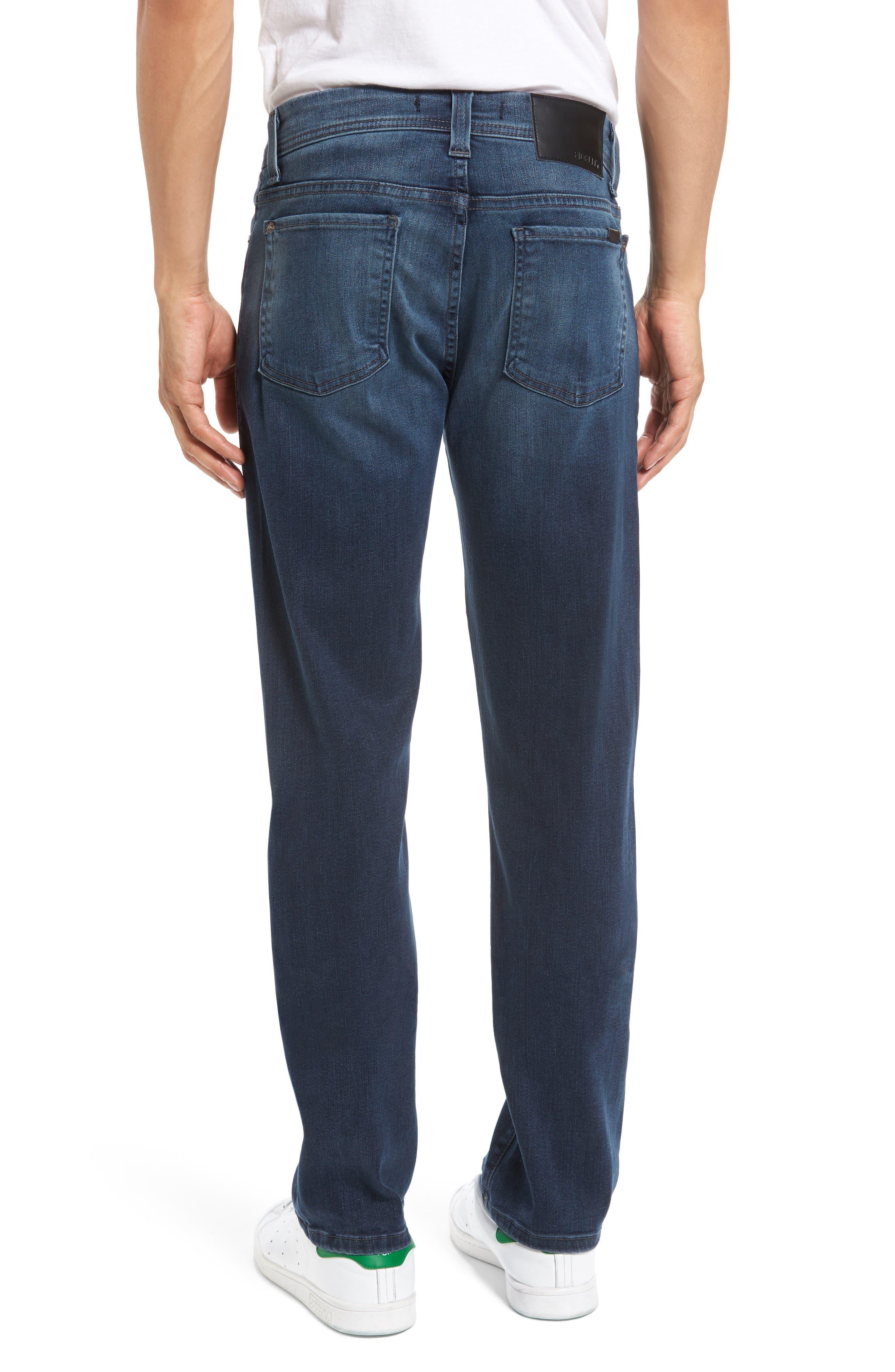Alternate Image 2  - Fidelity Jimmy Slim Straight Leg Jeans (Twilight Lumina)