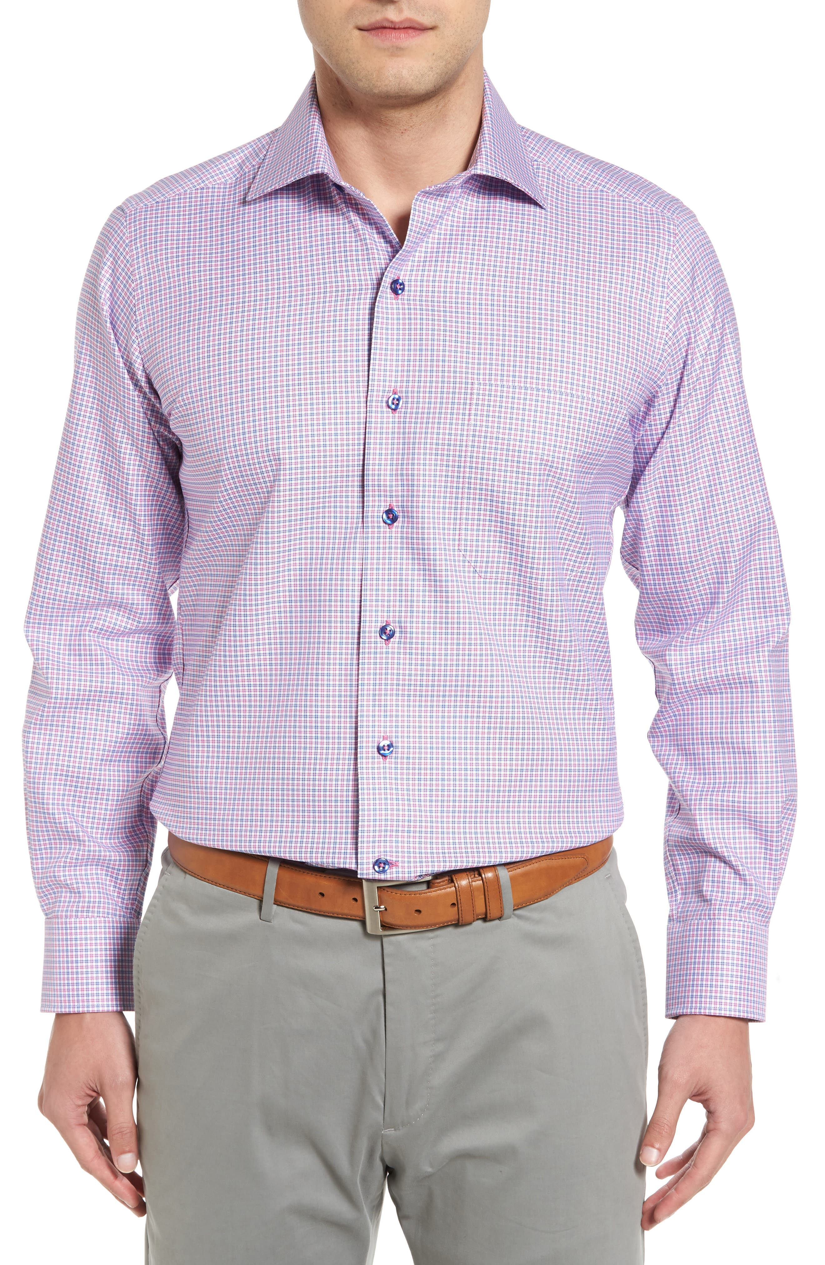 David Donahue Regular Fit Plaid Short