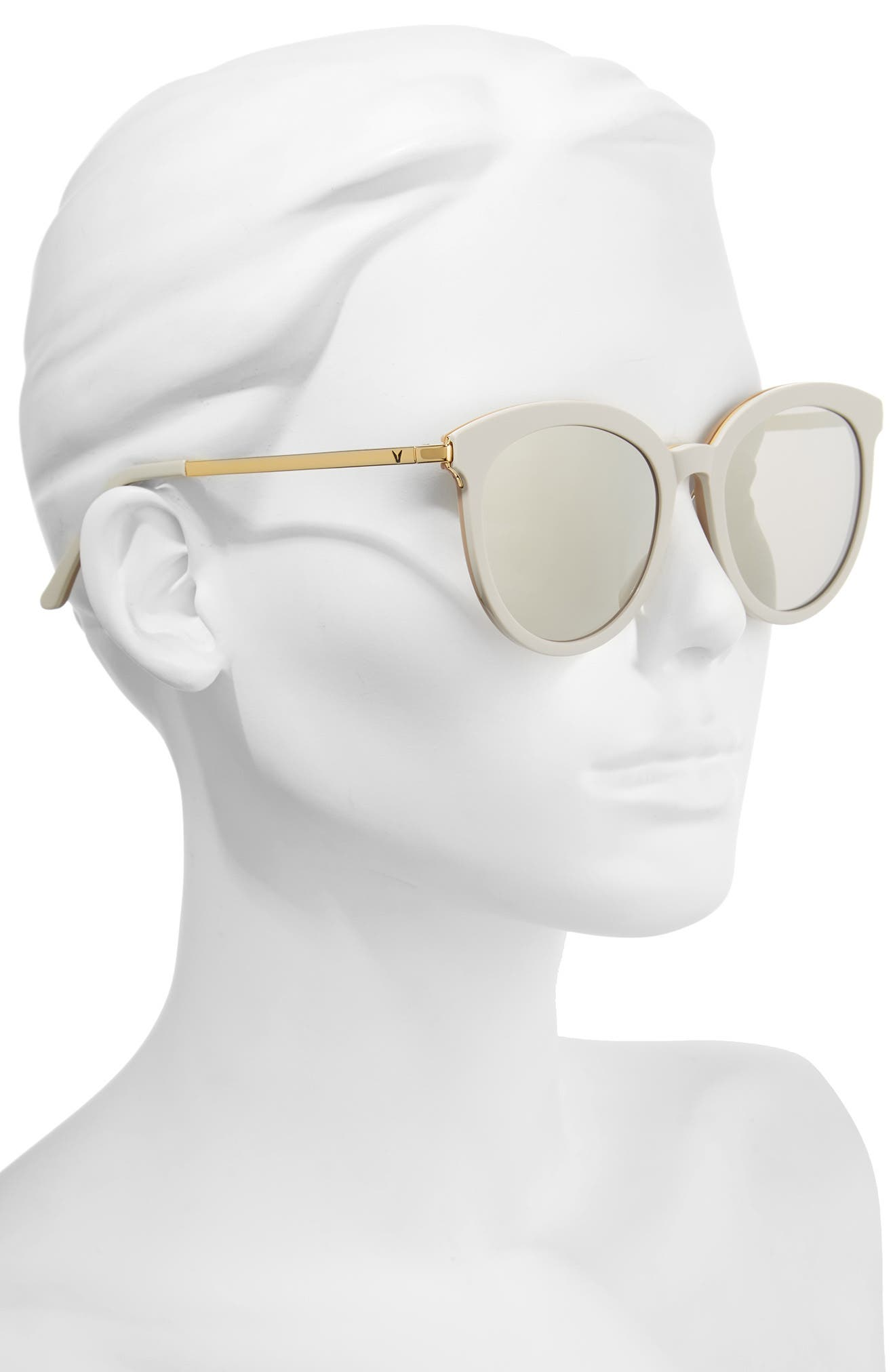 Vanilla Road 54mm Rounded Sunglasses,                             Alternate thumbnail 2, color,                             Grey/ Gold