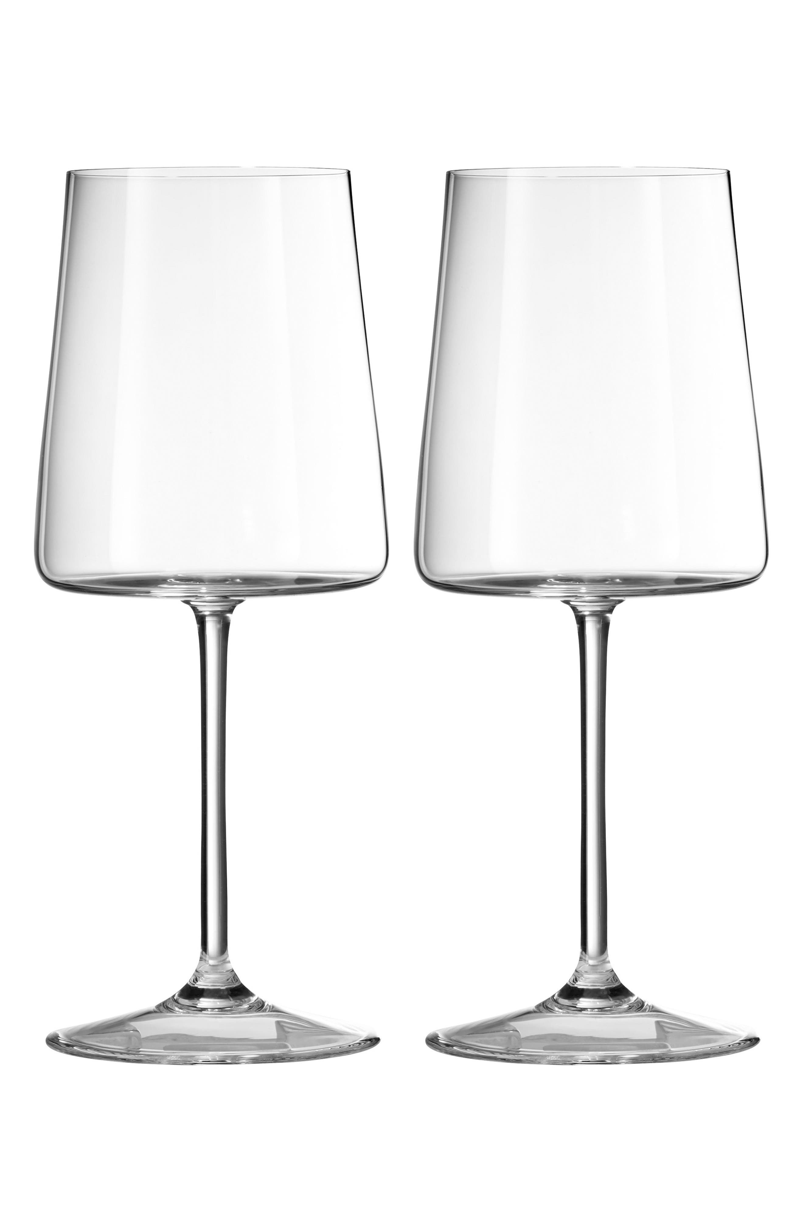 x Wedgwood Vera Metropolitan Set of 2 Goblets,                         Main,                         color, Clear