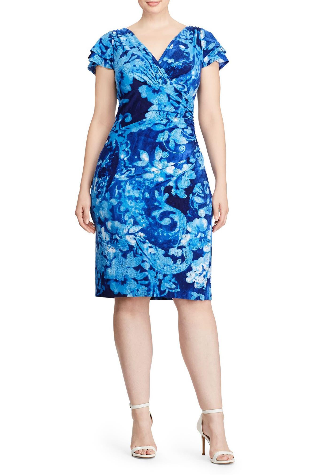 Main Image - Lauren Ralph Lauren Sheath Dress (Plus Size)