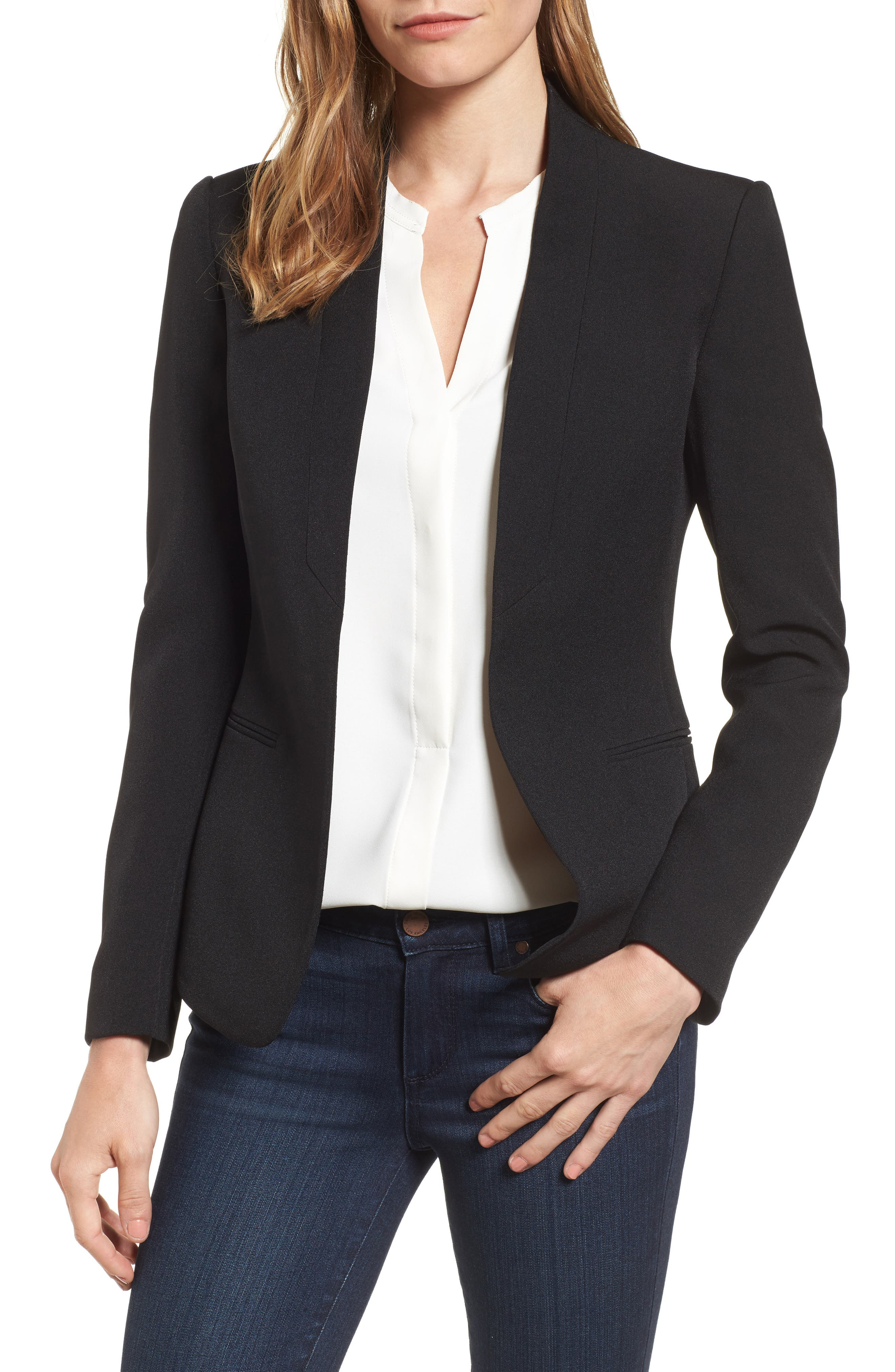 Anne Klein Open Front Jacket