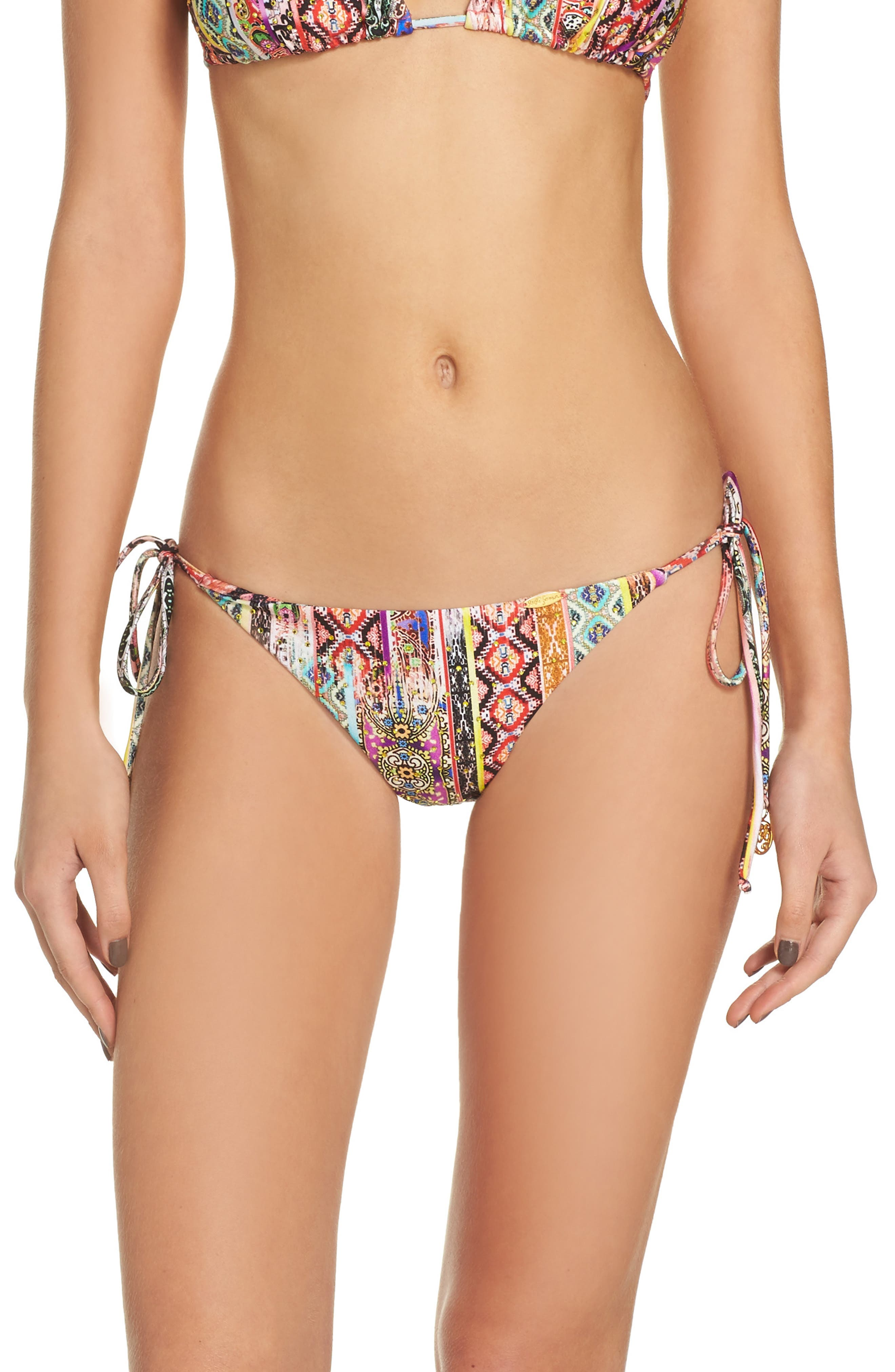 Alternate Image 2  - Luli Fama Embellished Brazilian Bikini Bottoms