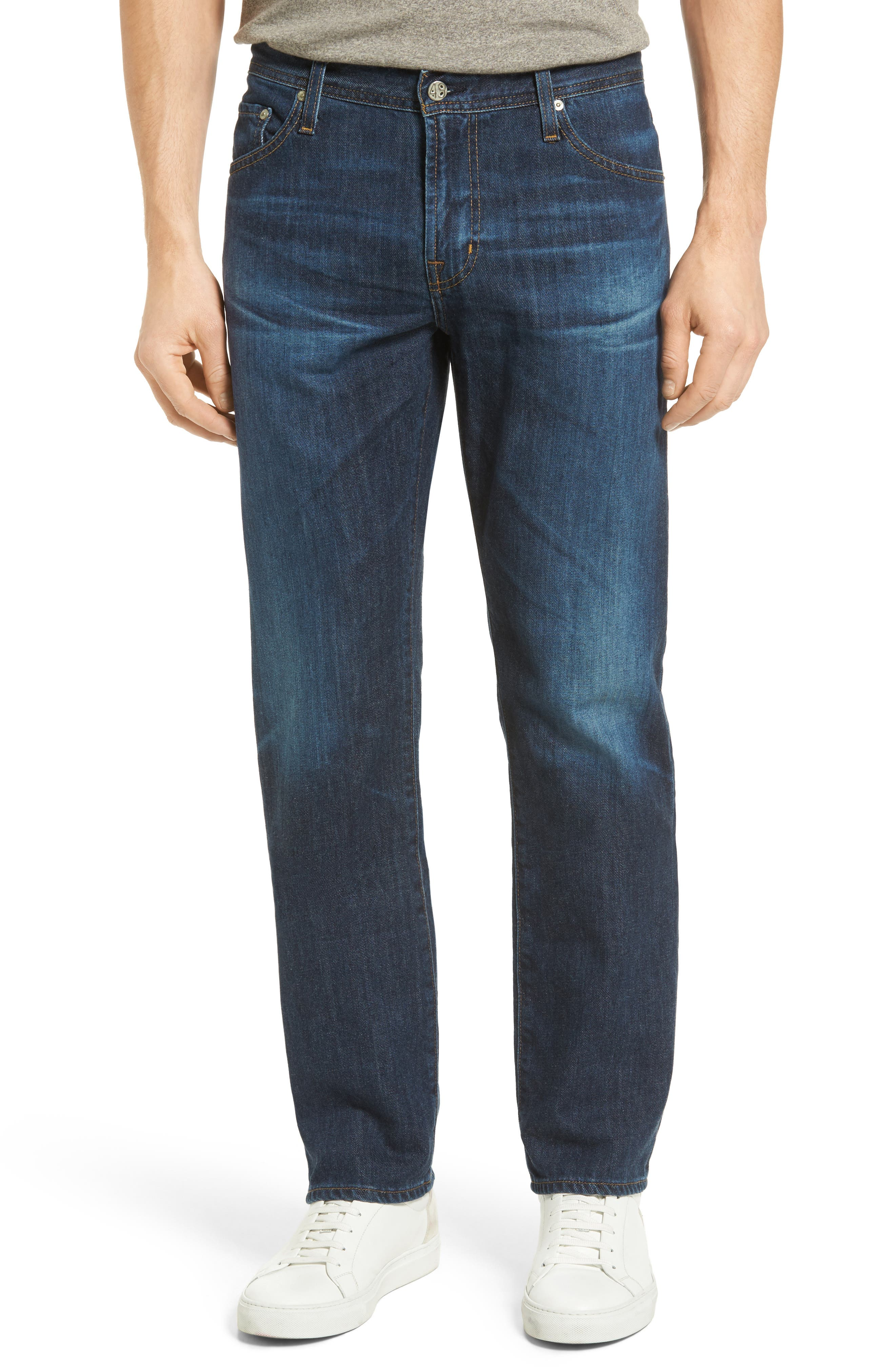 AG Graduate Slim Straight Leg Jeans (9 Years Crafted Blue)