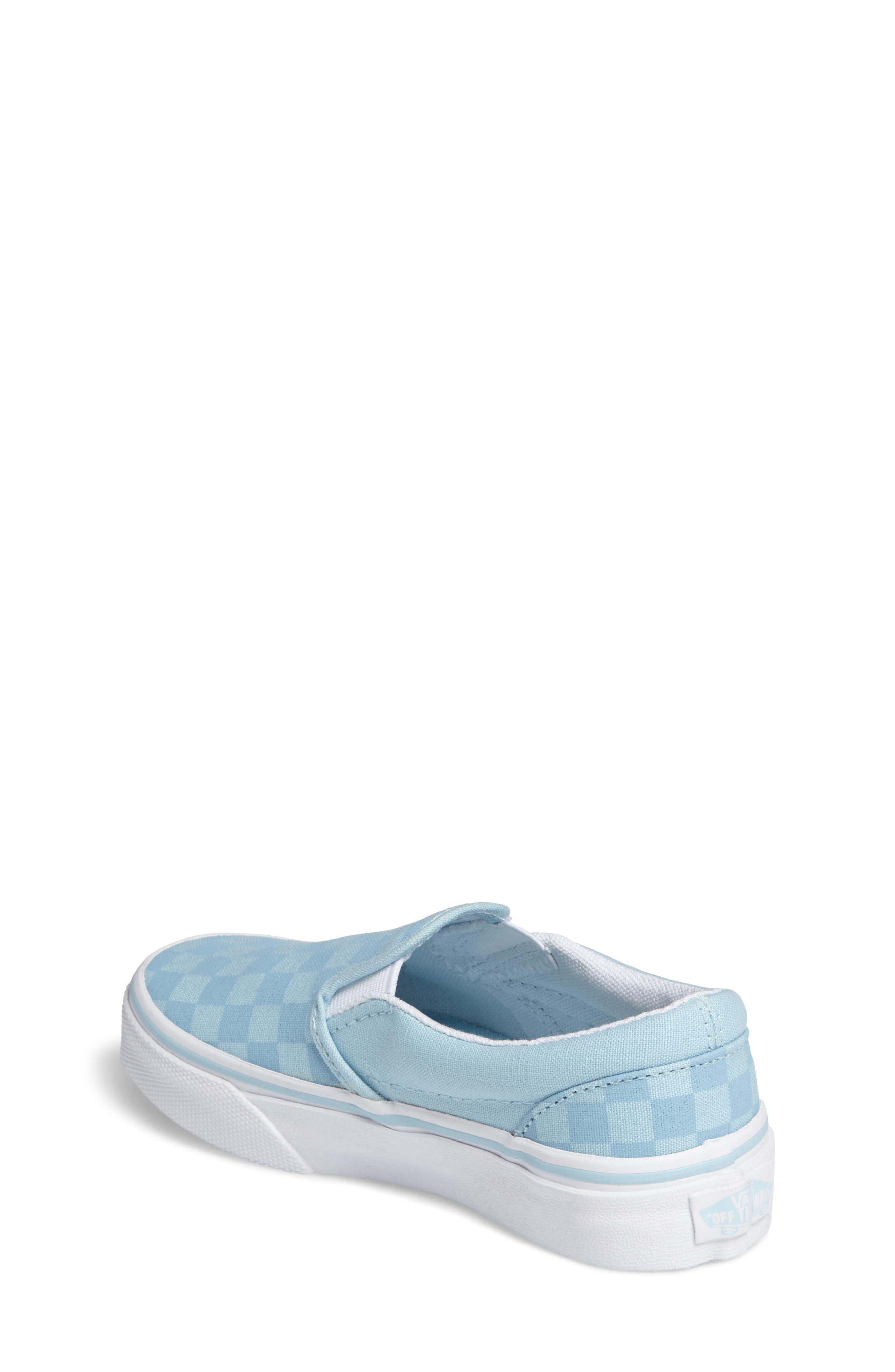 Classic Slip-On Sneaker,                             Alternate thumbnail 2, color,                             Crystal Blue Tonal Check