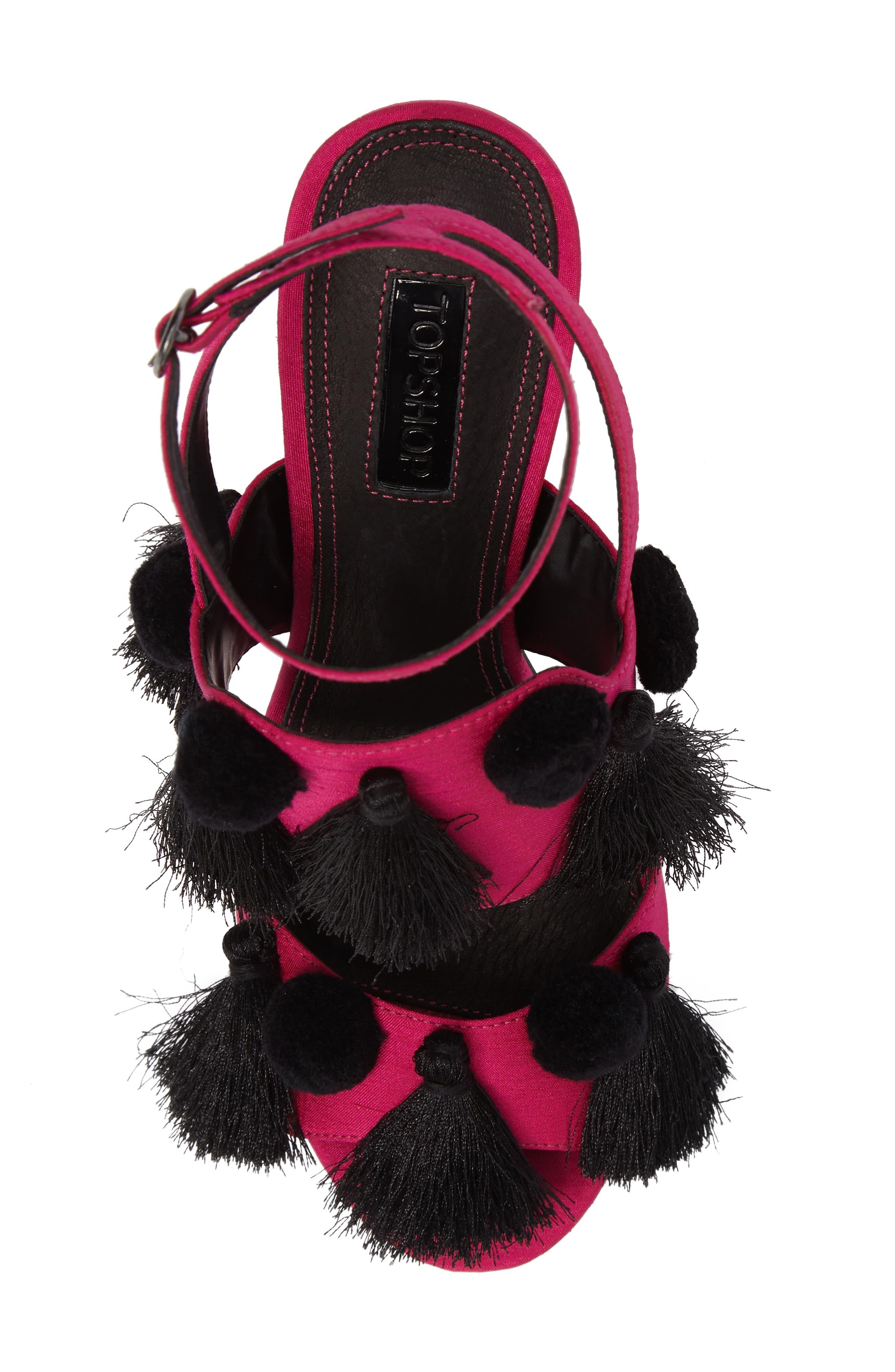 Alternate Image 5  - Topshop Rave Tasseled Pom Sandal (Women)