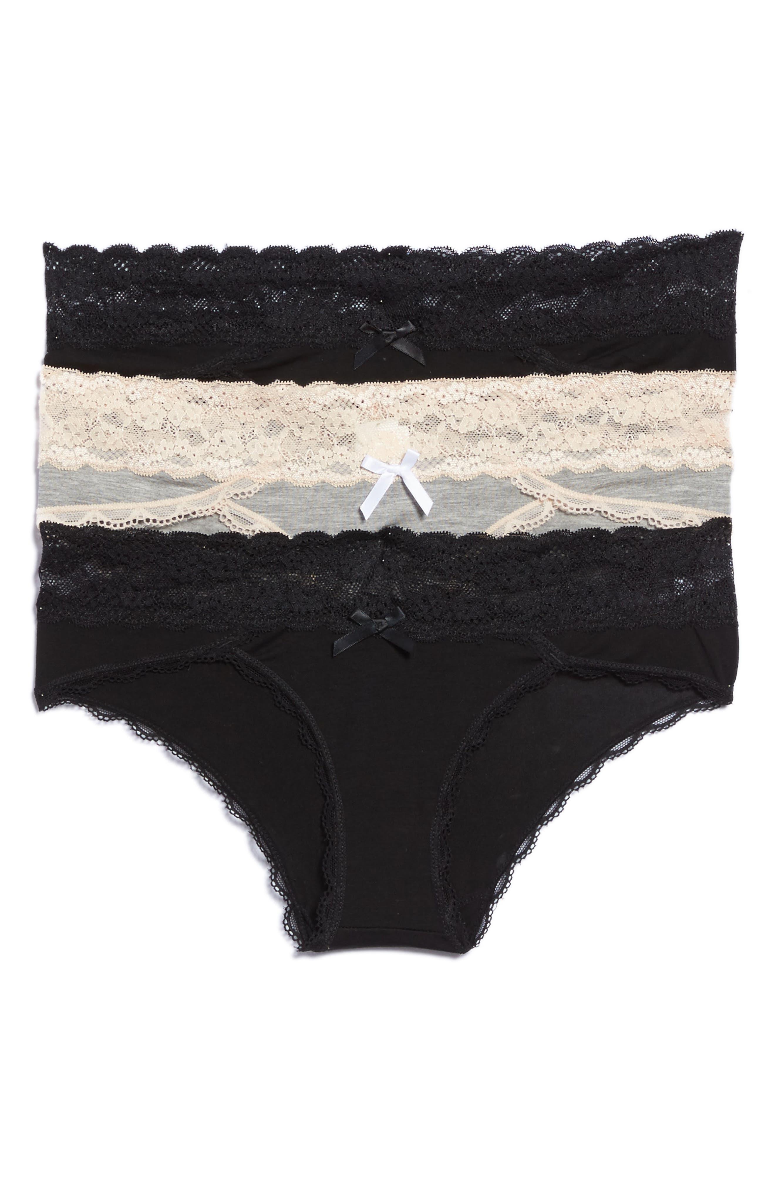 Alternate Image 1 Selected - Honeydew Intimates 3-Pack Hipster Panties