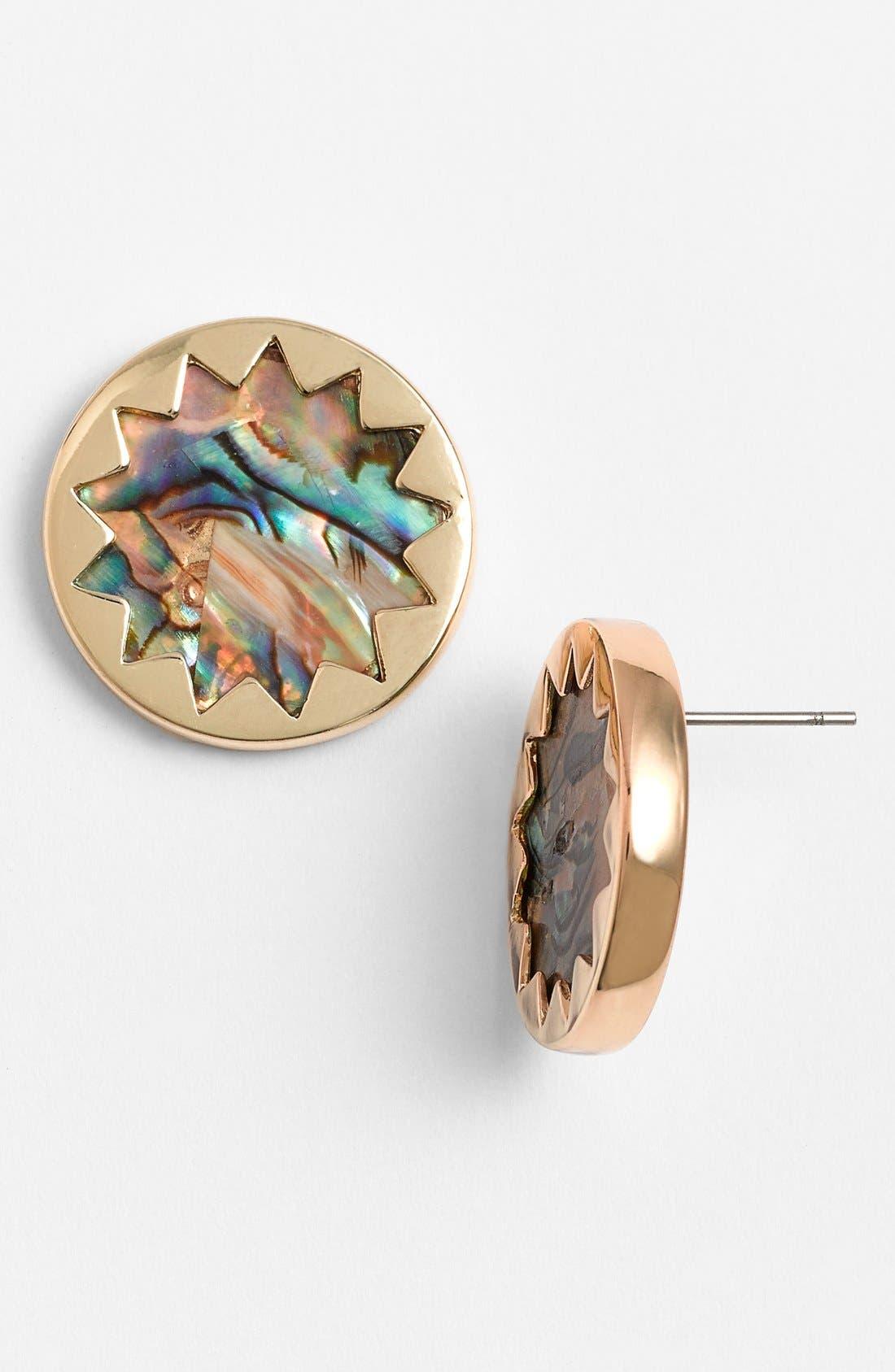Alternate Image 1 Selected - House of Harlow 1960 Sunburst Button Earrings