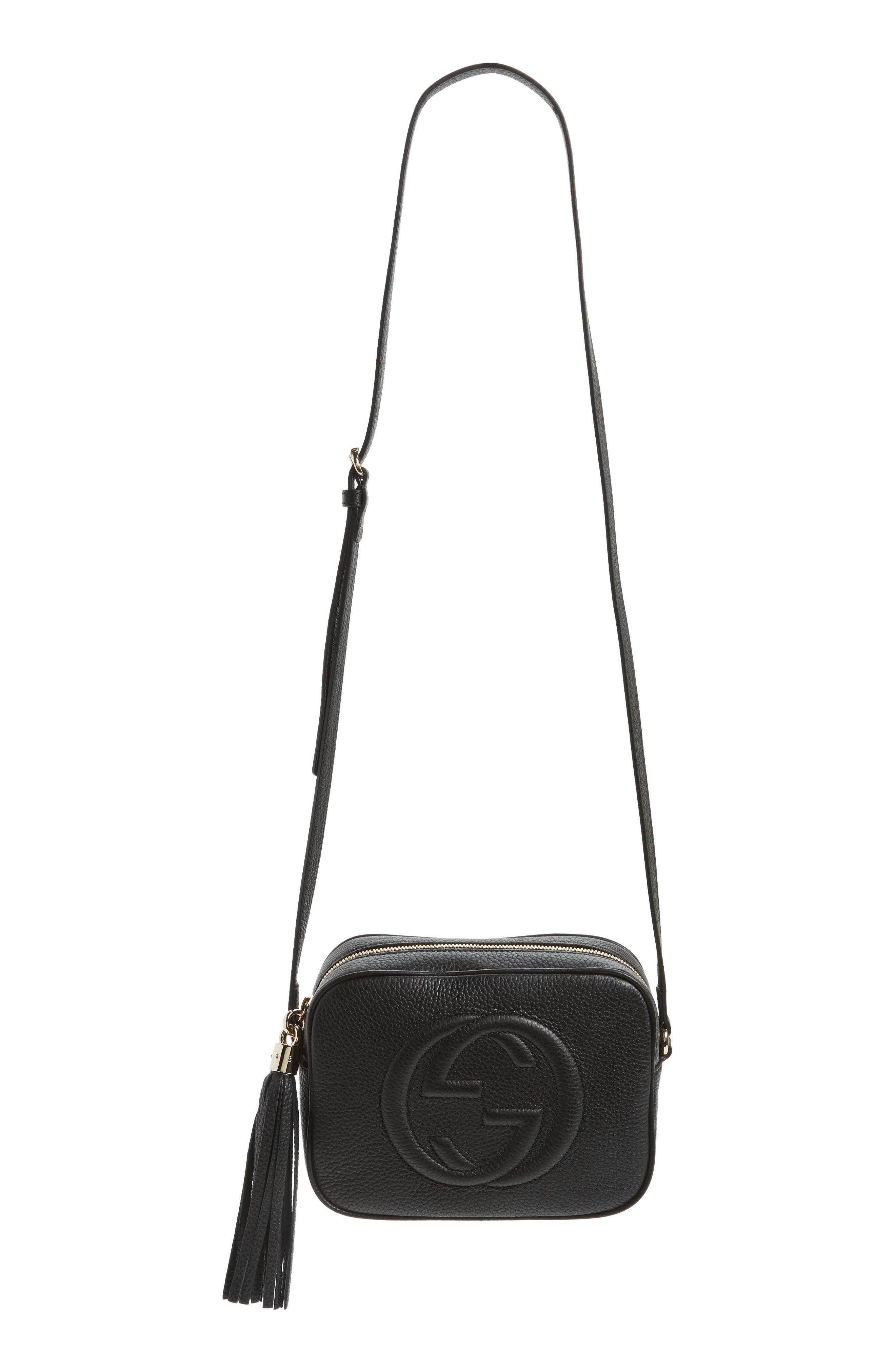 Soho Disco Leather Bag,                             Main thumbnail 1, color,                             1000 Nero