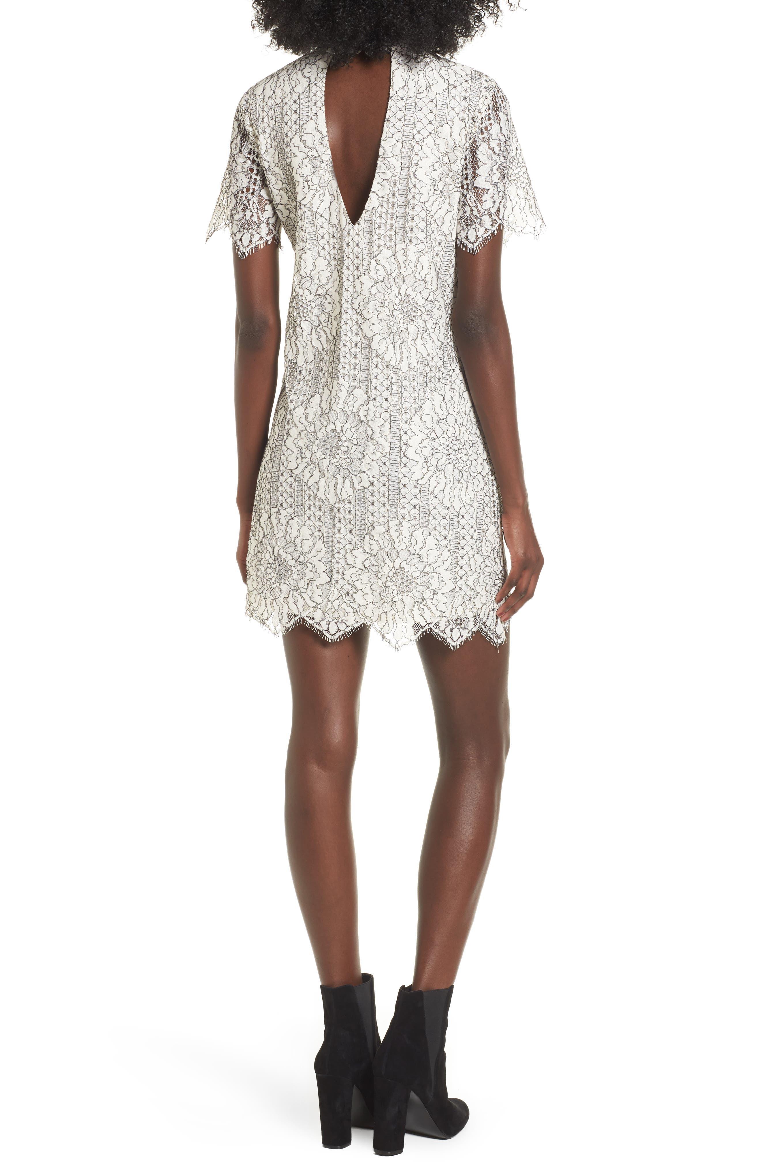 Alternate Image 2  - Socialite Choker Lace Shift Dress