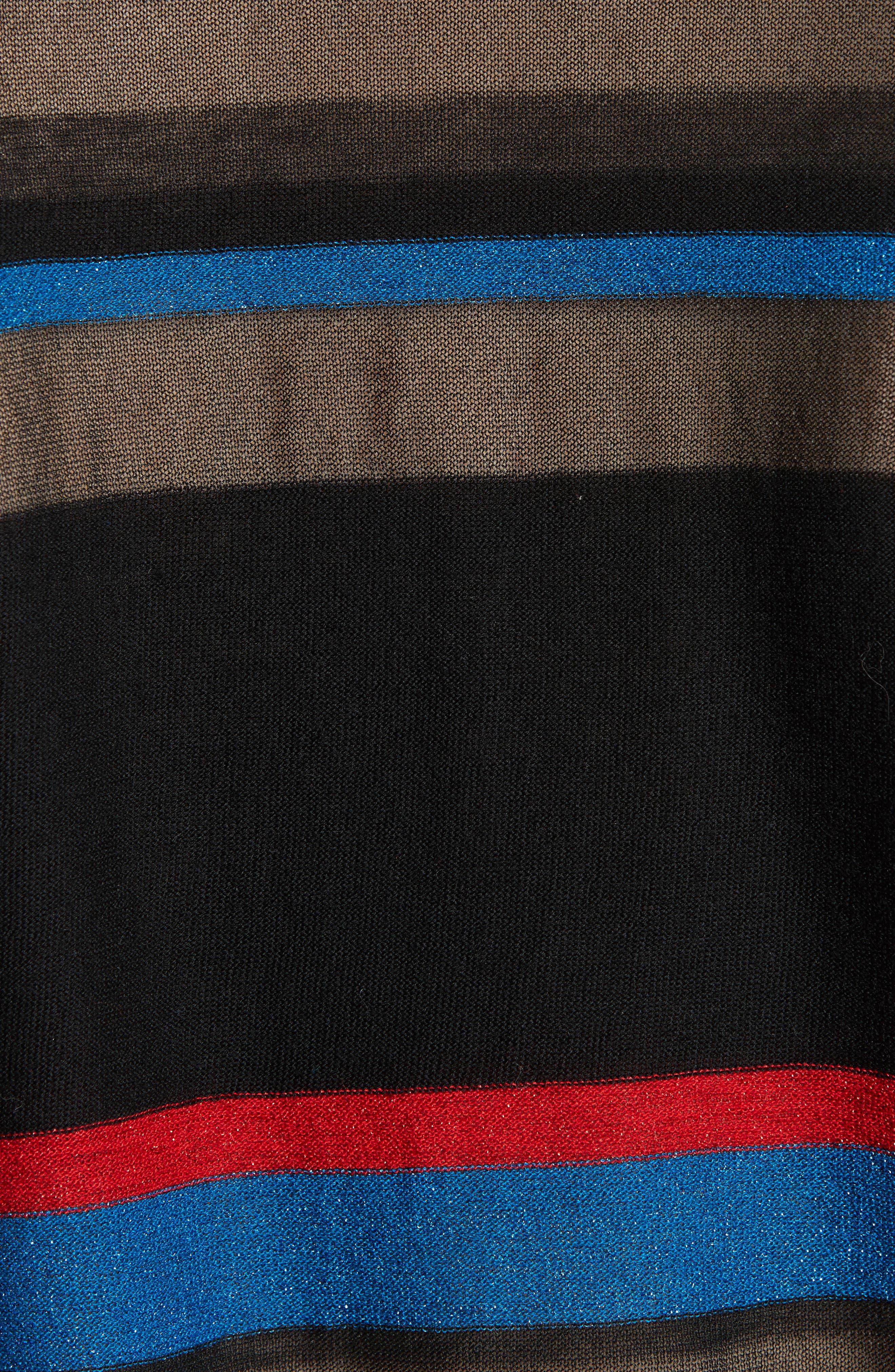 Alternate Image 5  - Diane von Furstenberg Stripe V-Neck Cardigan