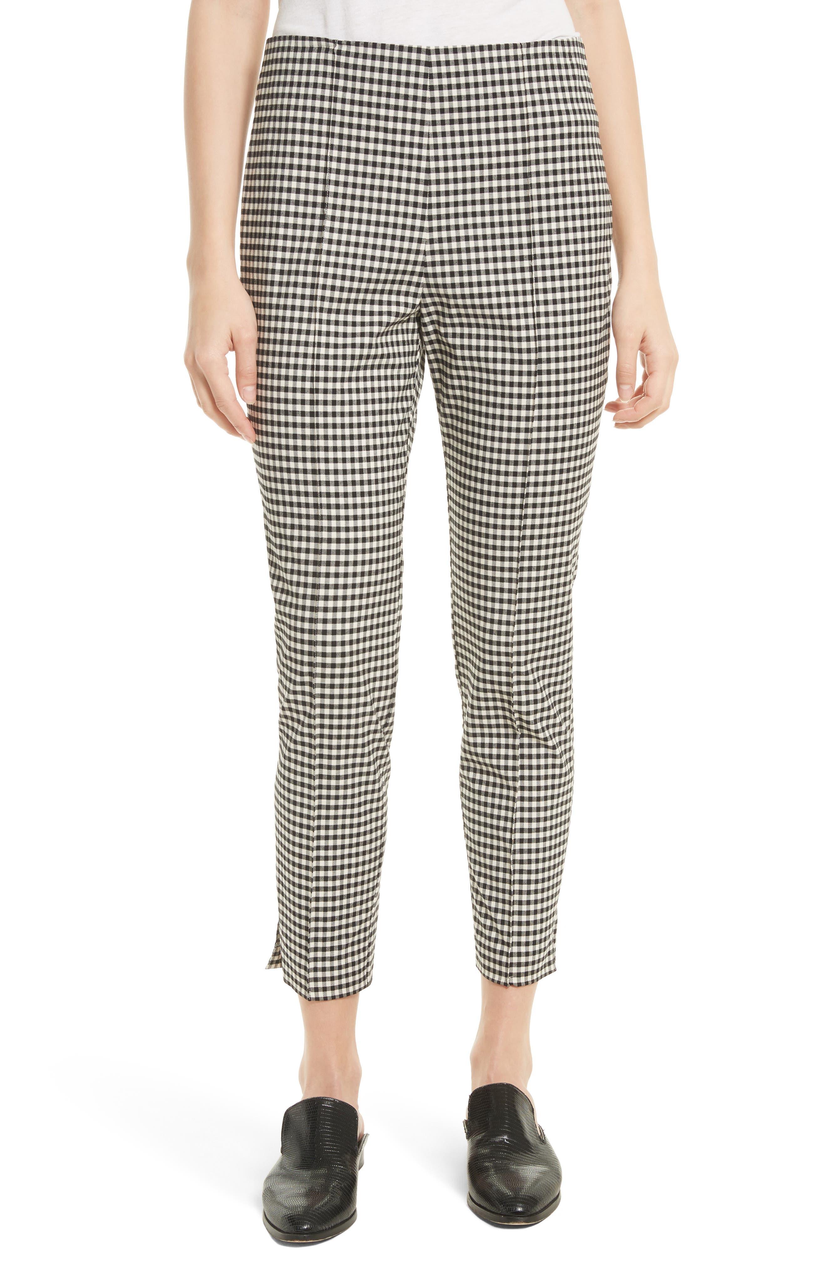 Main Image - Veronica Beard Tee High Waisted Seam Trousers