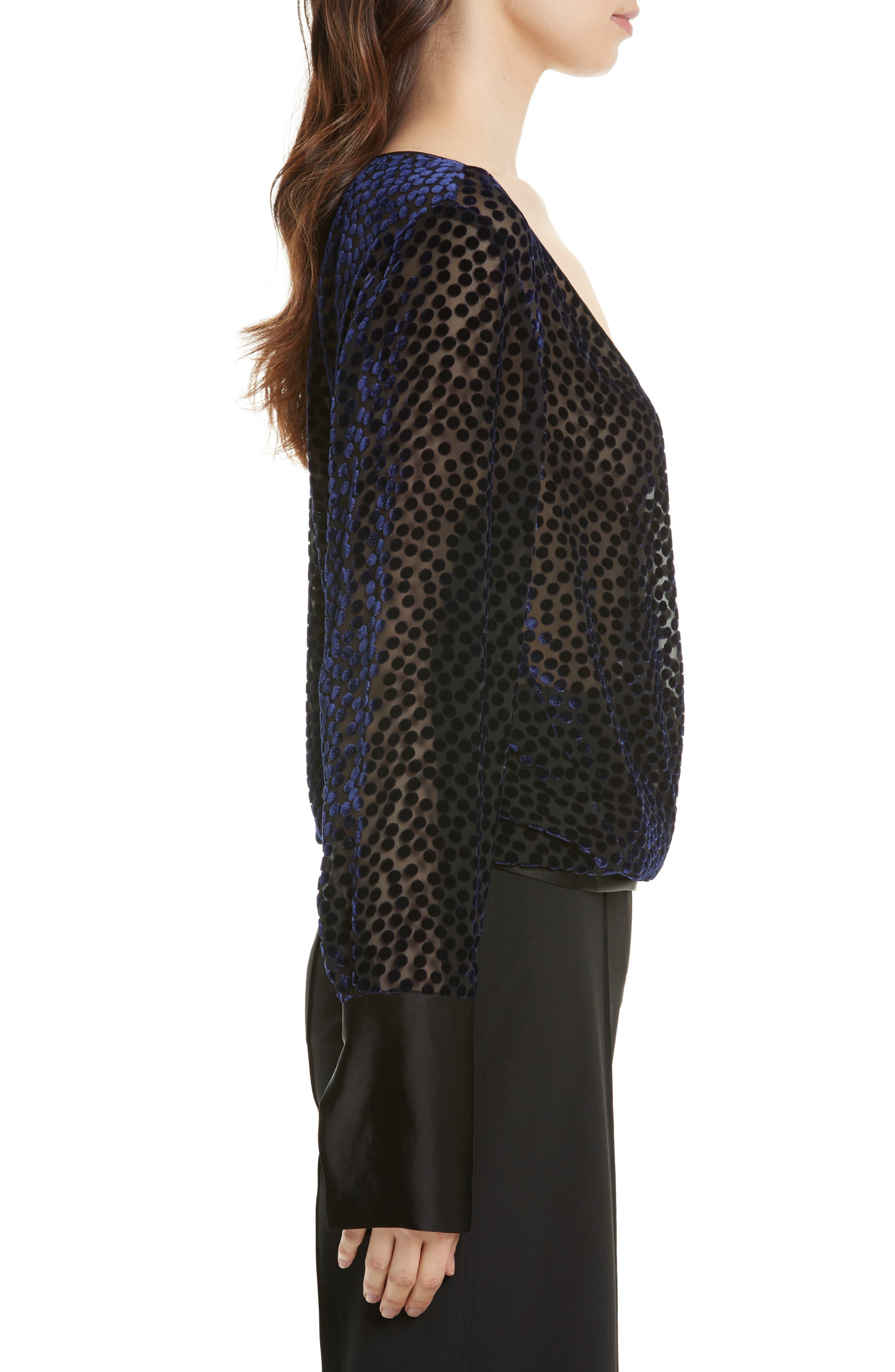 Alternate Image 3  - Diane von Furstenberg Deep V-Neck Burnout Velvet Top