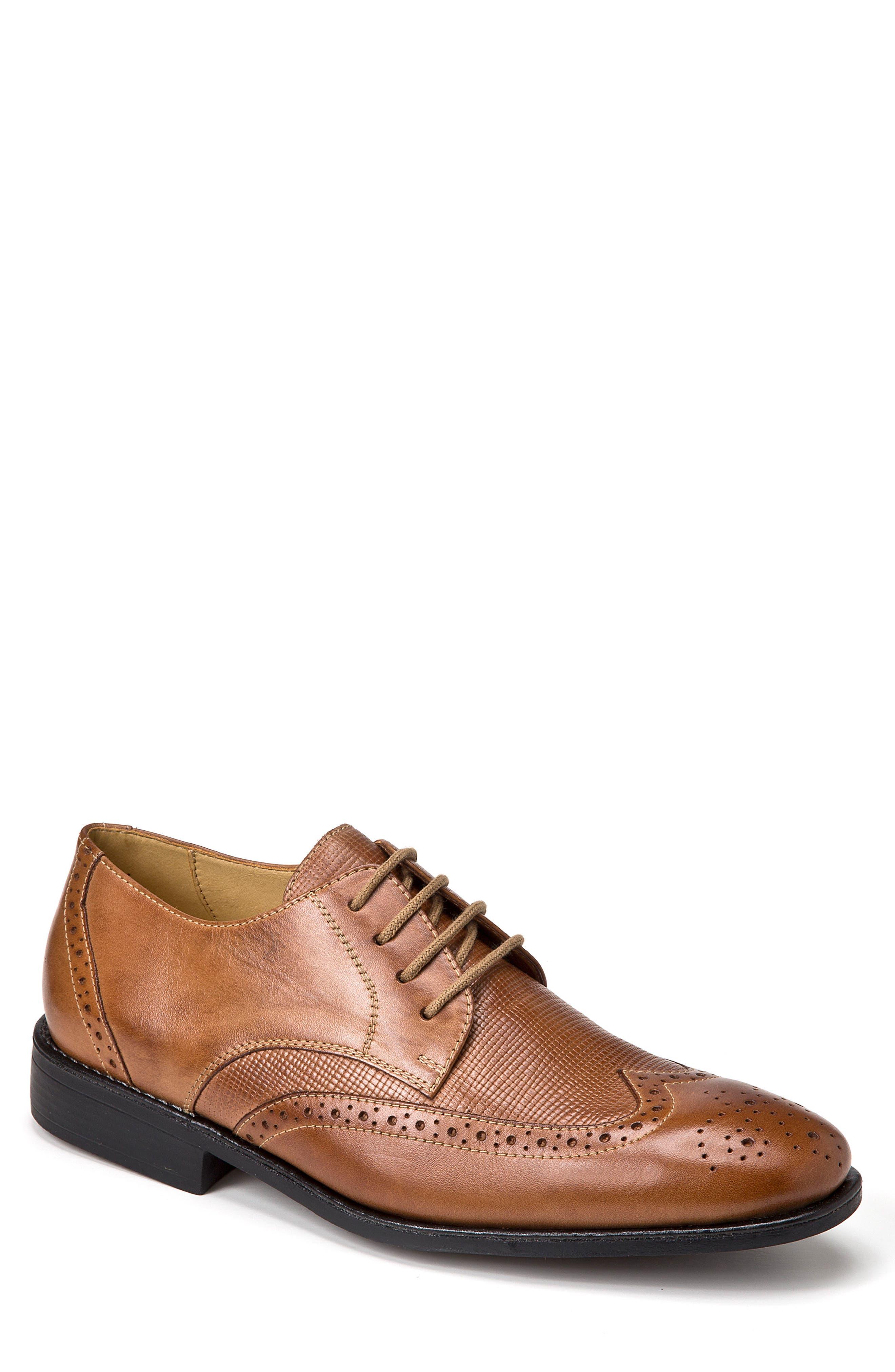 Donovan Wingtip,                         Main,                         color, Tan Leather