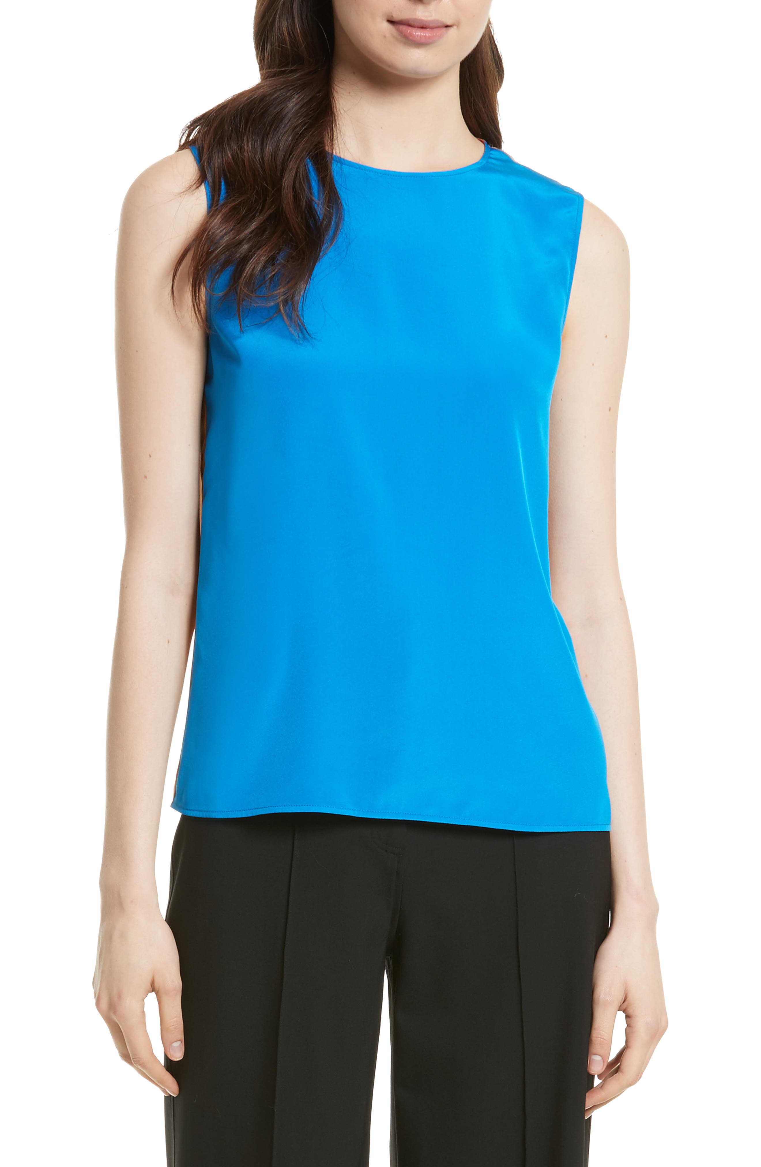 Silk Shell,                         Main,                         color, Bright Blue/ Toffee