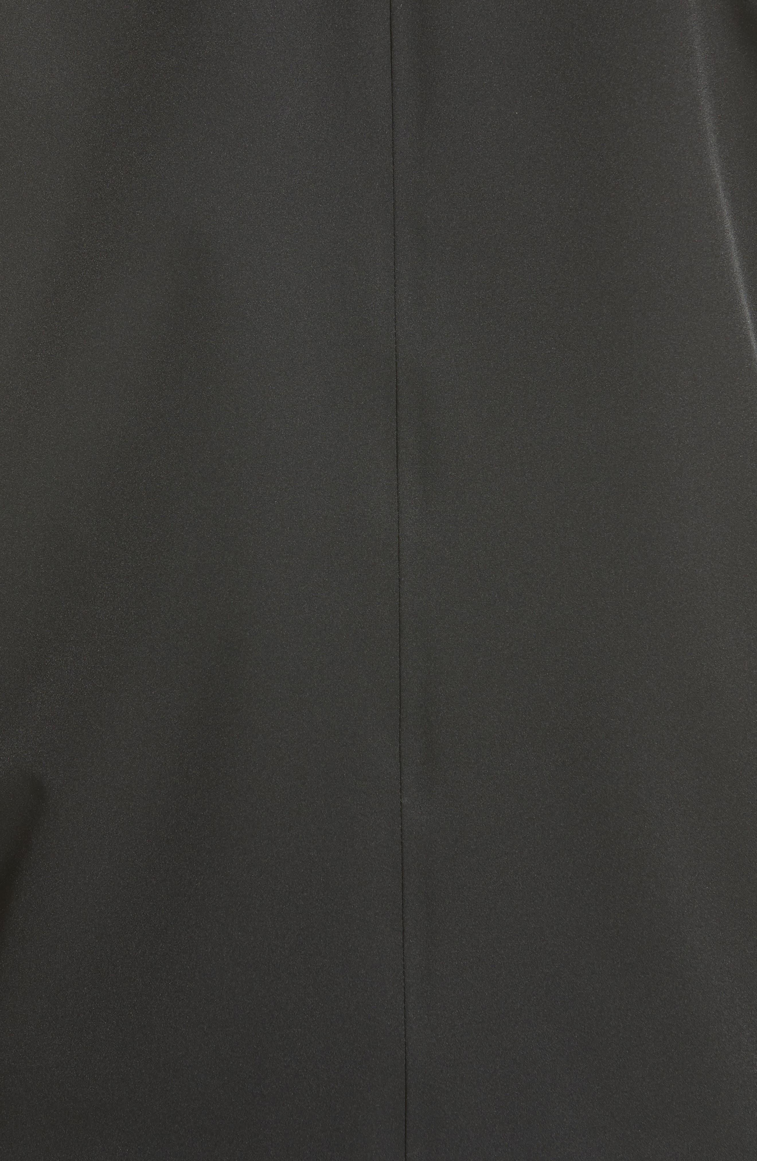 Troisvallees Jacket with Genuine Nutria Fur Collar,                             Alternate thumbnail 5, color,                             Black/ White