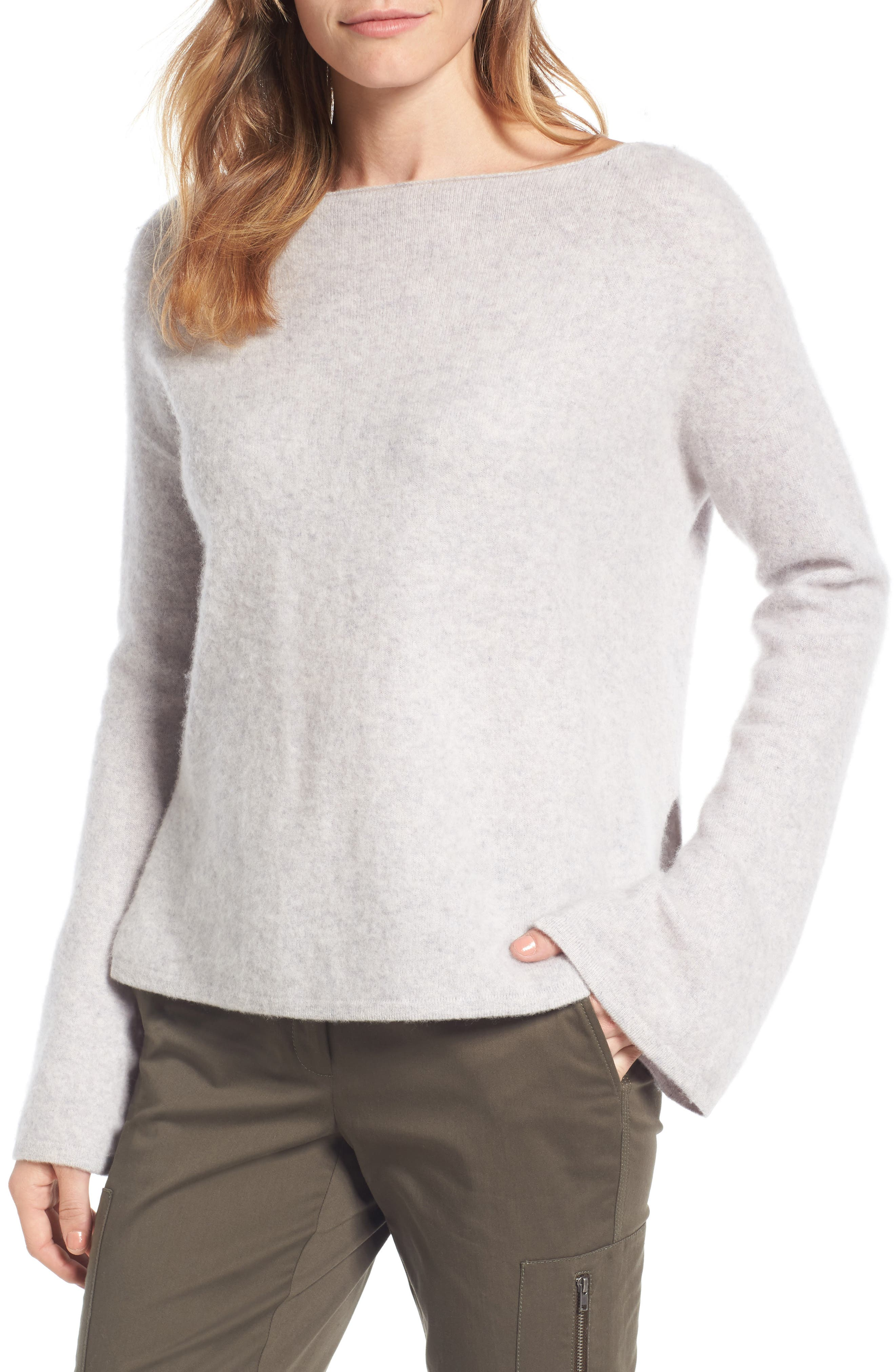 Boiled Cashmere Pullover,                             Main thumbnail 1, color,                             Grey Clay Heather