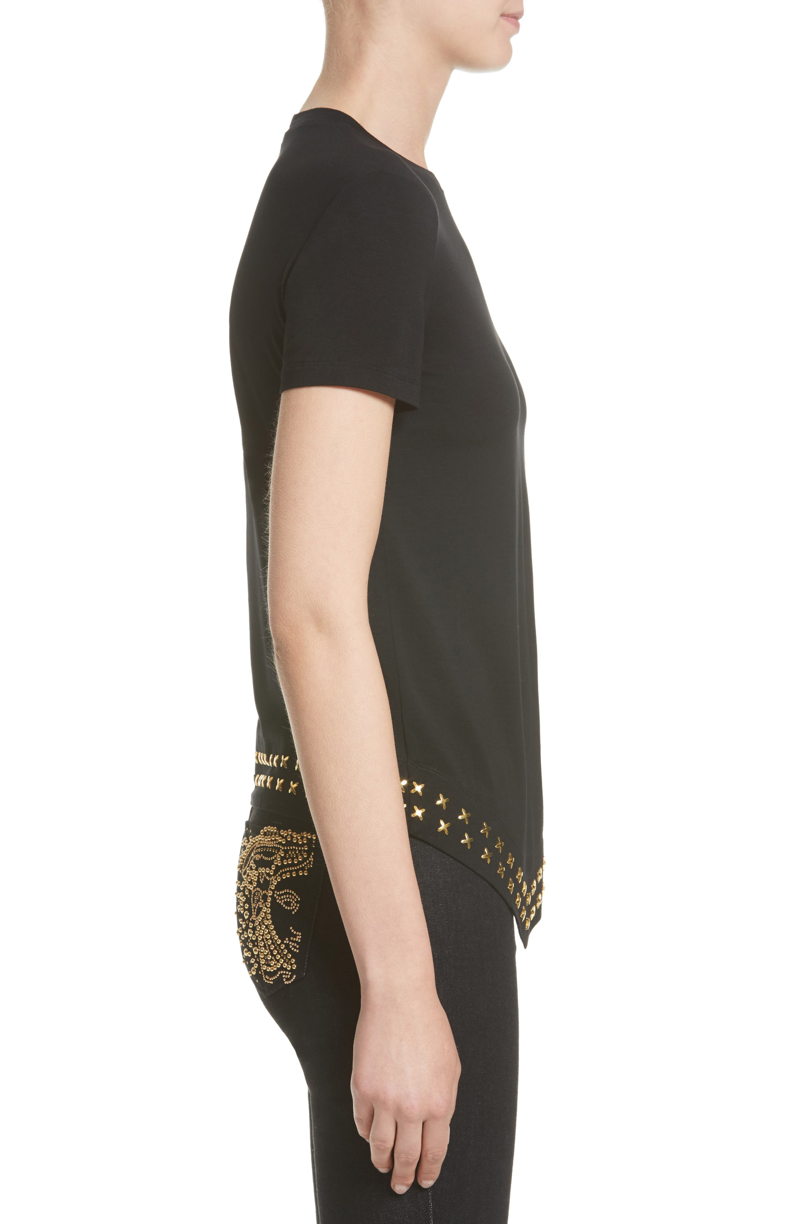 Alternate Image 5  - Versace Collection Hardware Embellished Jersey Asymmetrical Top