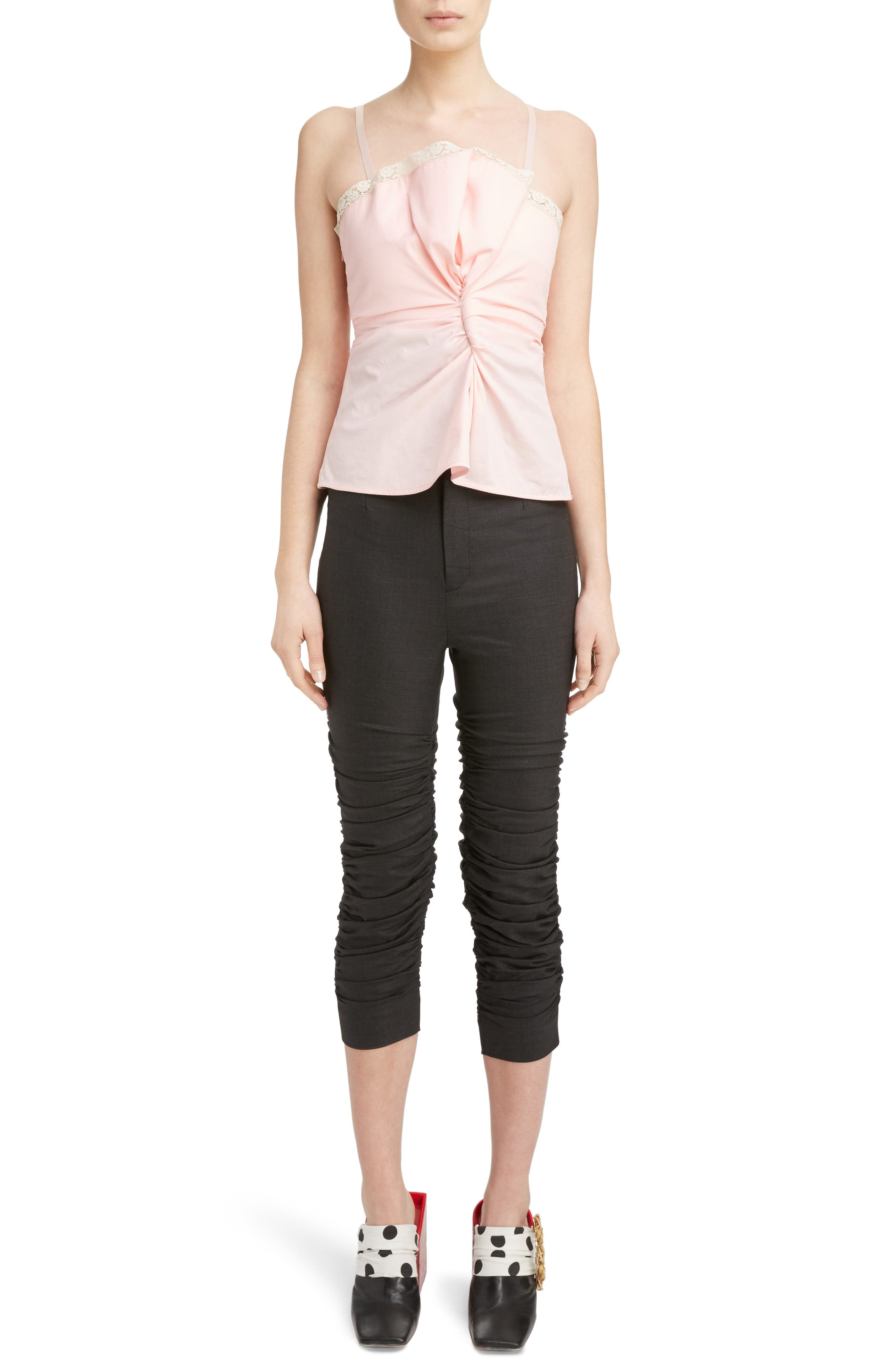 Ruched Camisole Top,                         Main,                         color, Pink