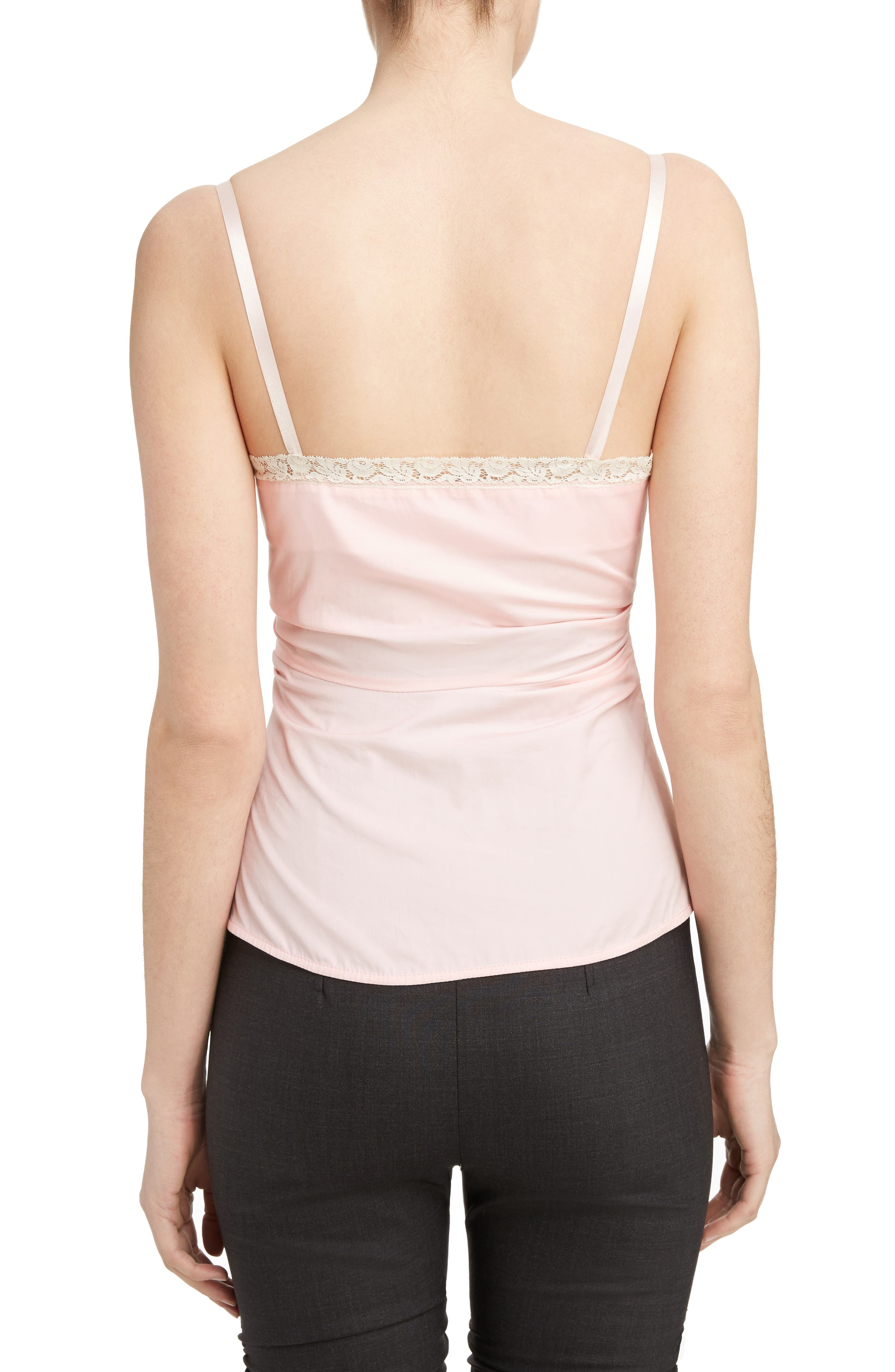 Ruched Camisole Top,                             Alternate thumbnail 2, color,                             Pink