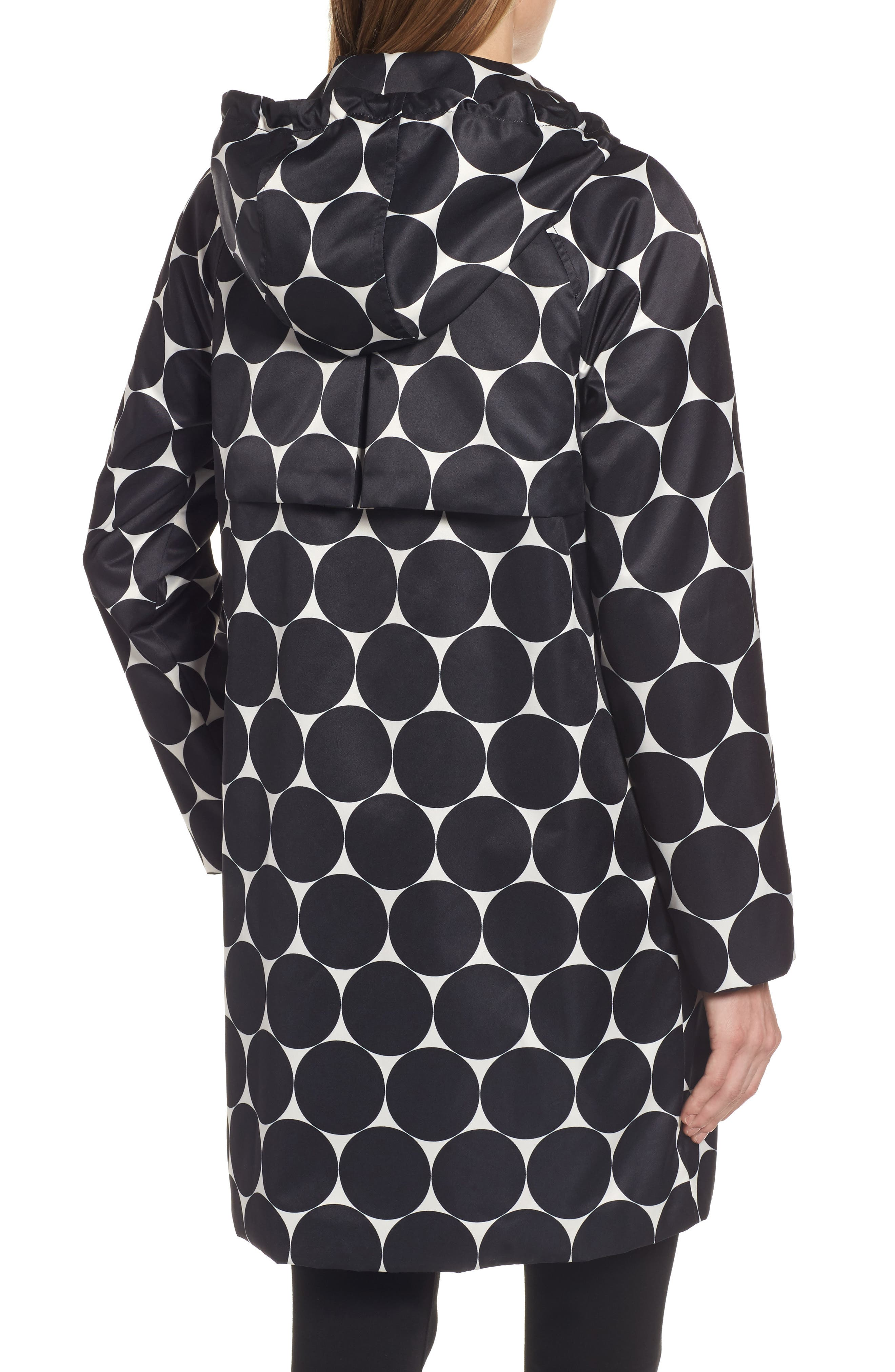 dot print raincoat,                             Alternate thumbnail 2, color,                             Dl Dot Cream/ Black