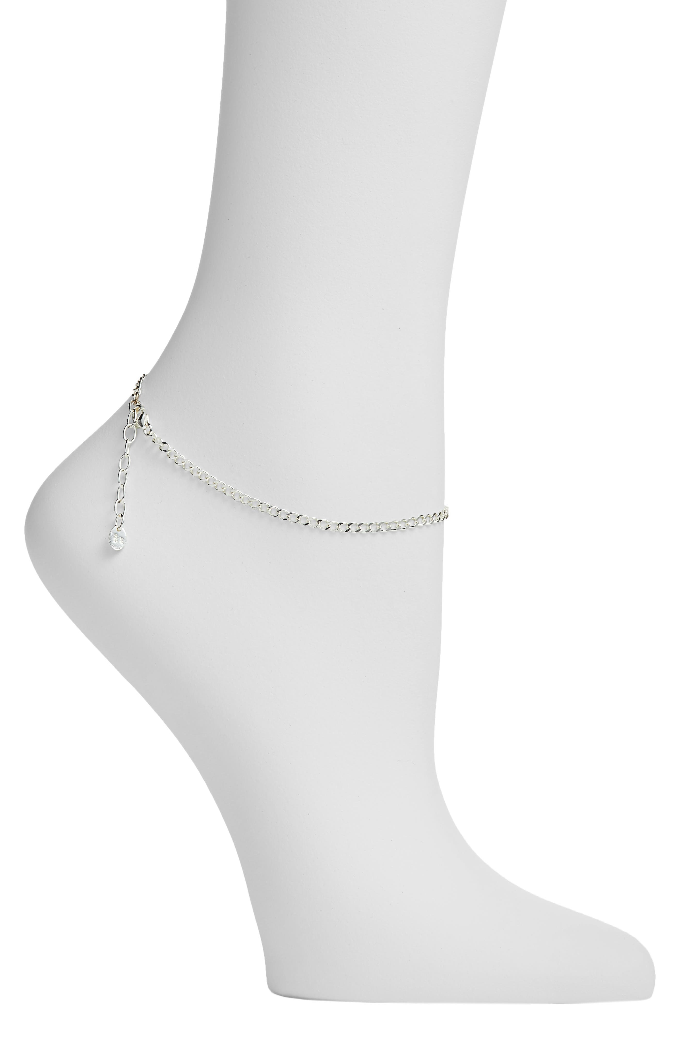 chain plated necklace chains vermeil bracelet cute anklet heart sizes sterling silver link gold all