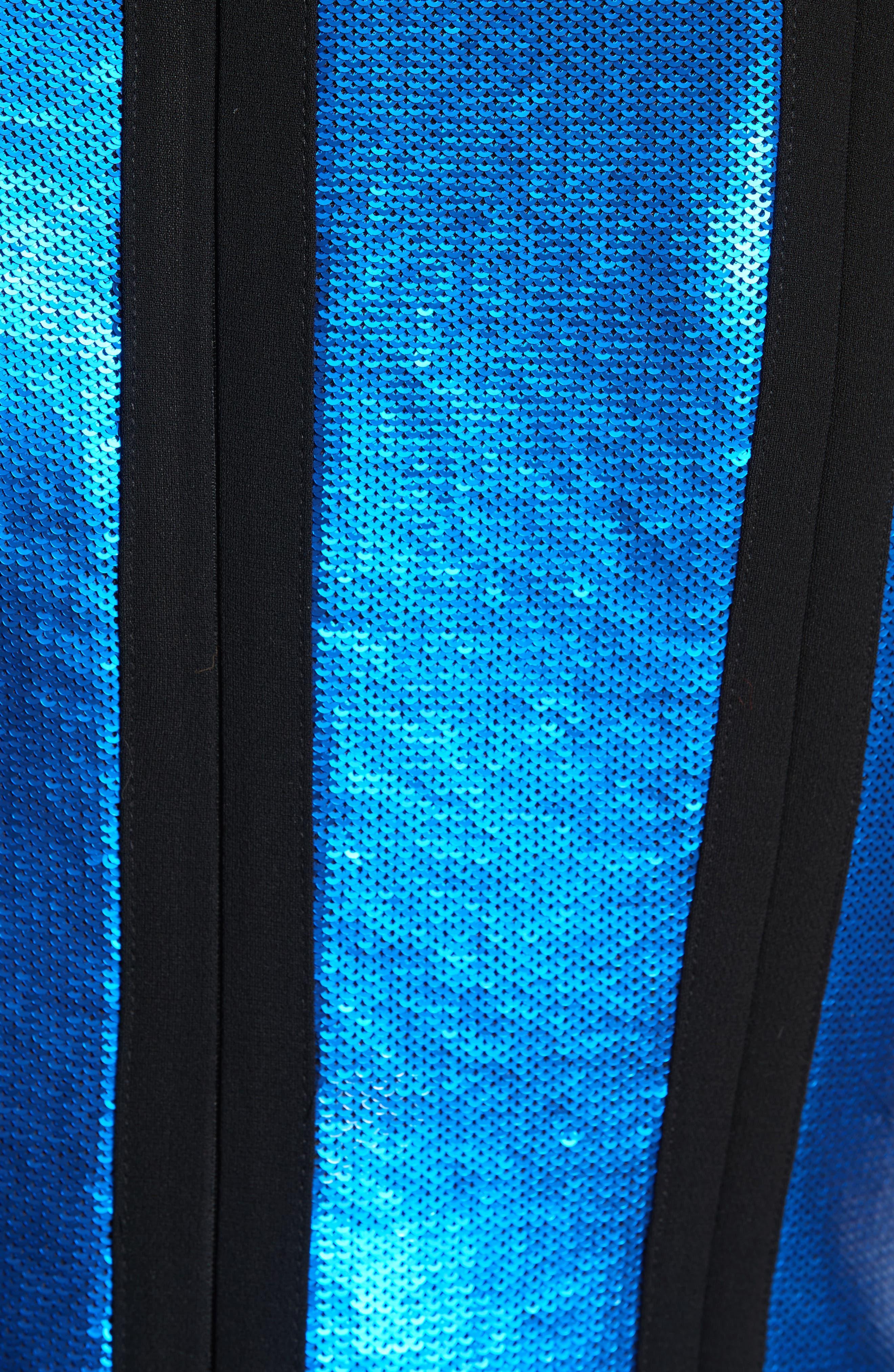 Alternate Image 5  - Diane von Furstenberg Sequin Panel Midi Dress