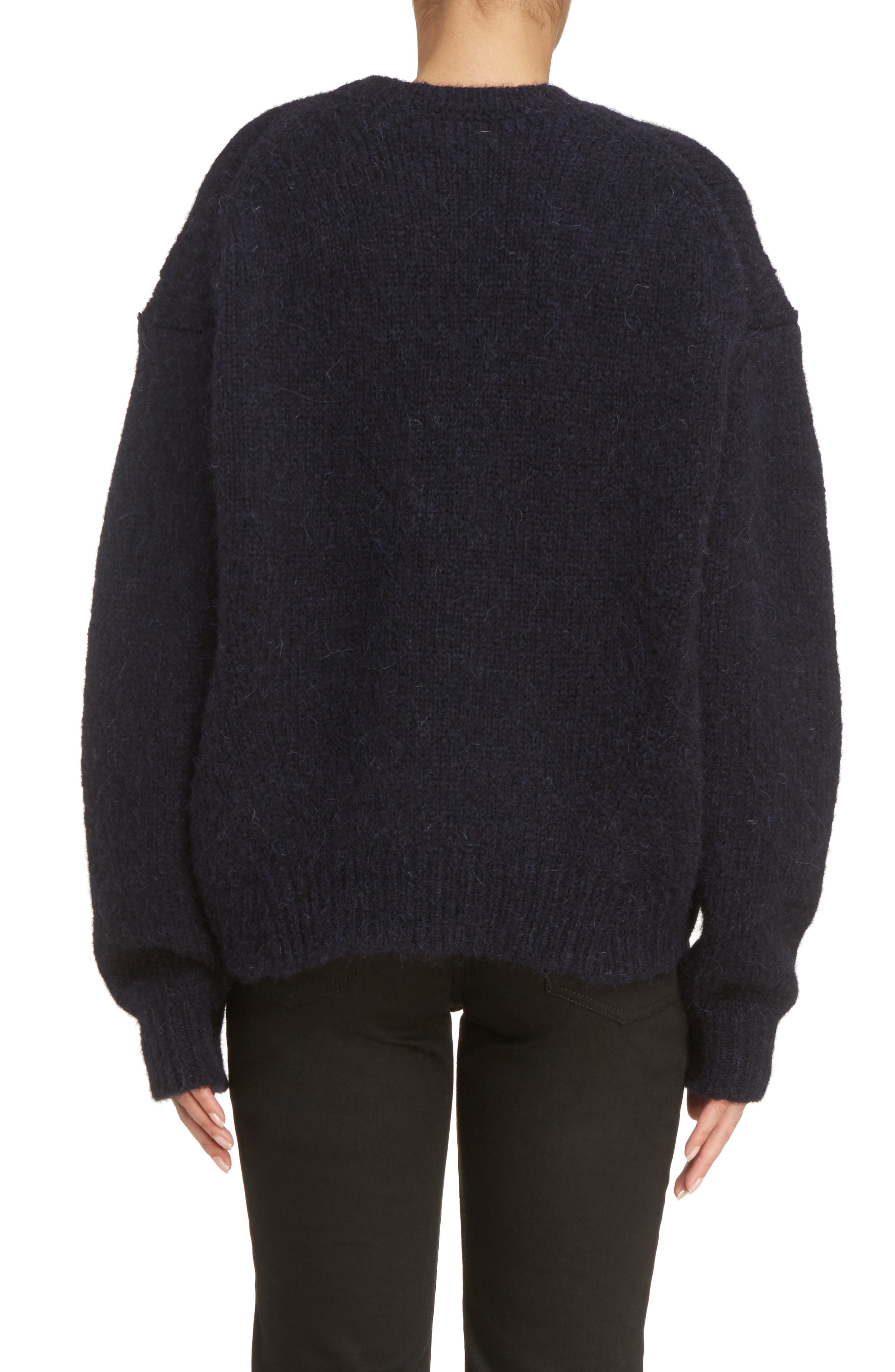 Karel Oversize Merino Sweater,                             Alternate thumbnail 2, color,                             Black
