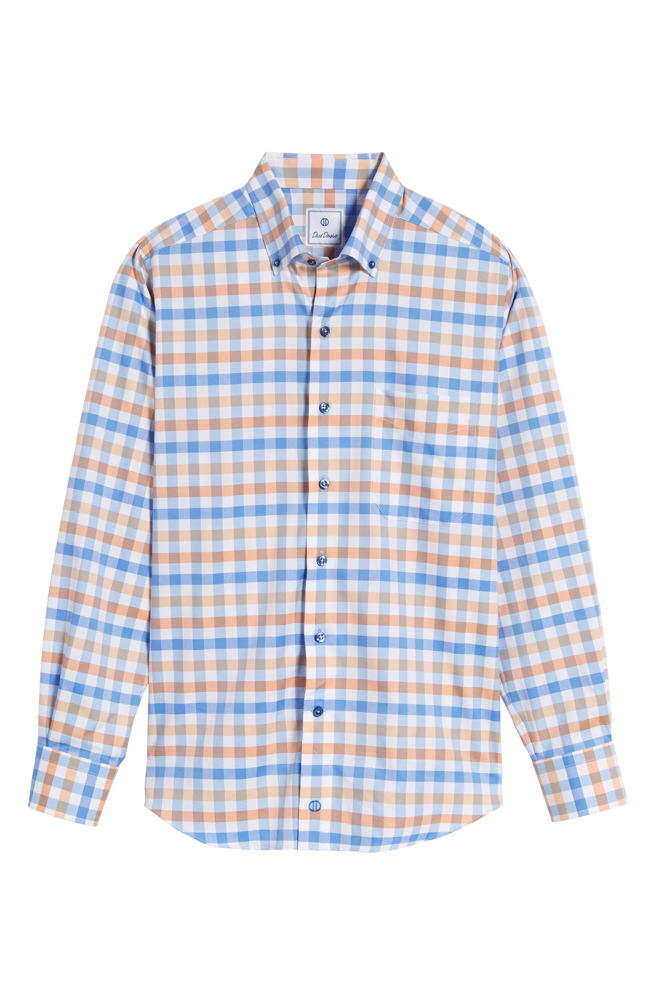 Alternate Image 6  - David Donahue Regular Fit Check Sport Shirt