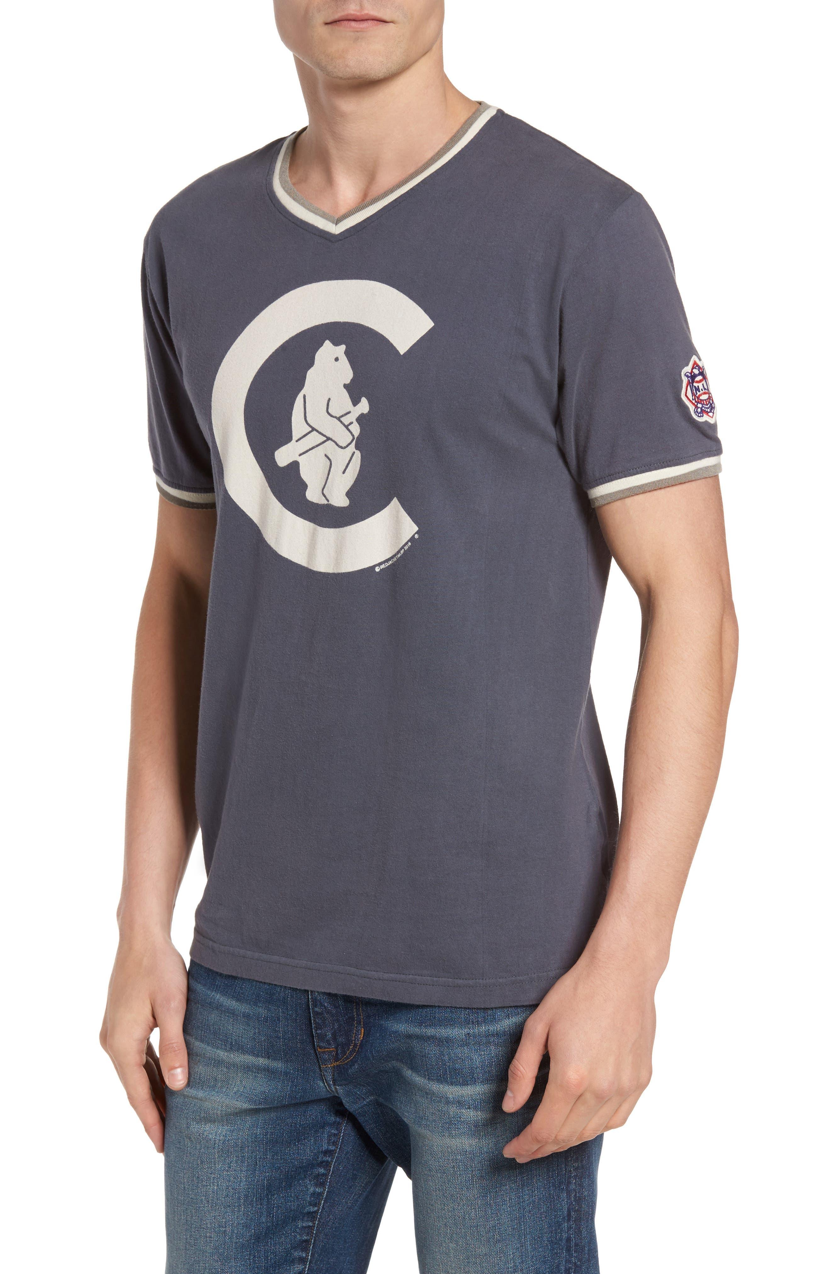 Eastwood - Chicago Cubs V-Neck T-Shirt,                         Main,                         color, Navy