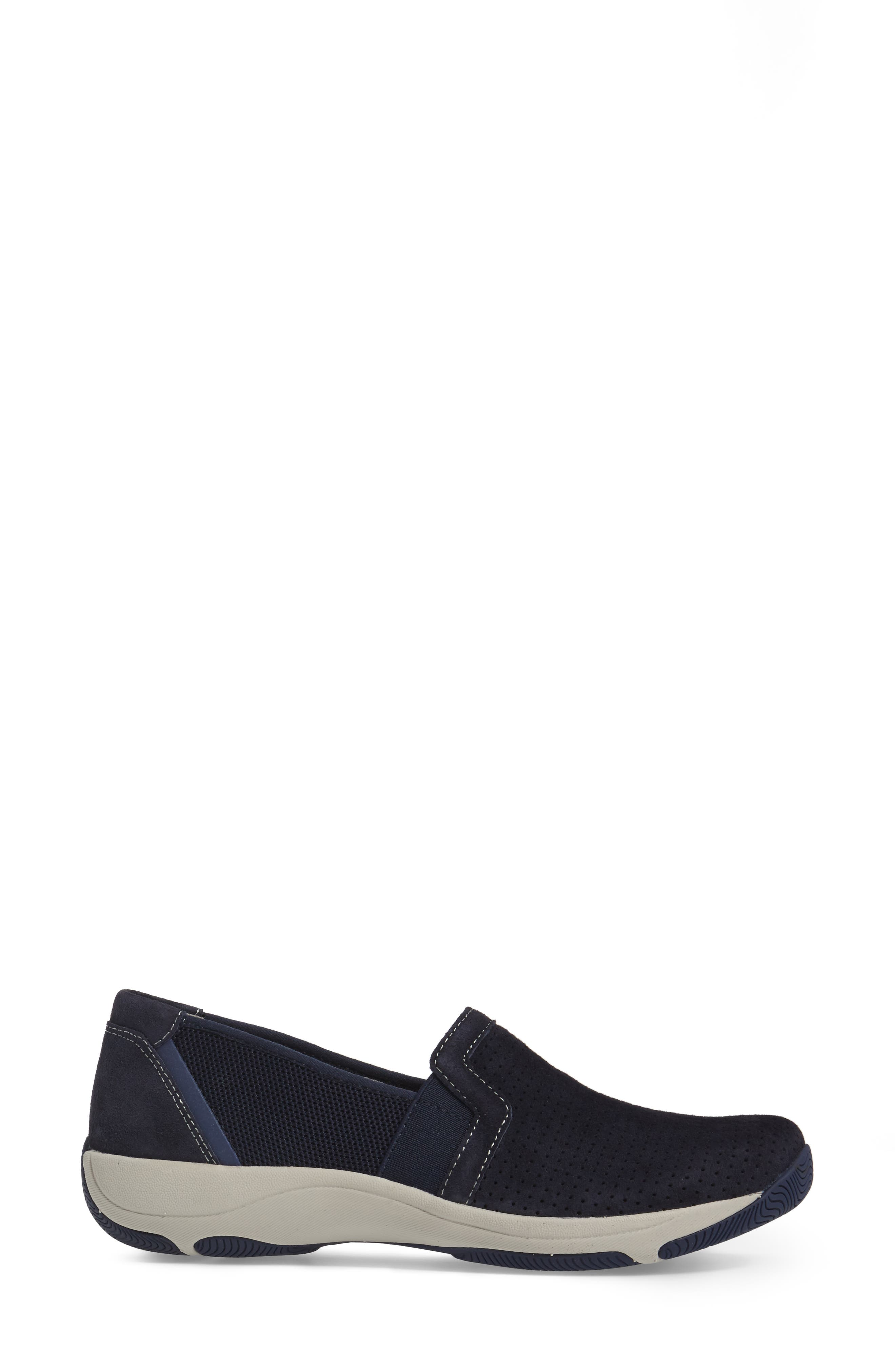Halifax Collection Halle Slip-On Sneaker,                             Alternate thumbnail 3, color,                             Navy Suede