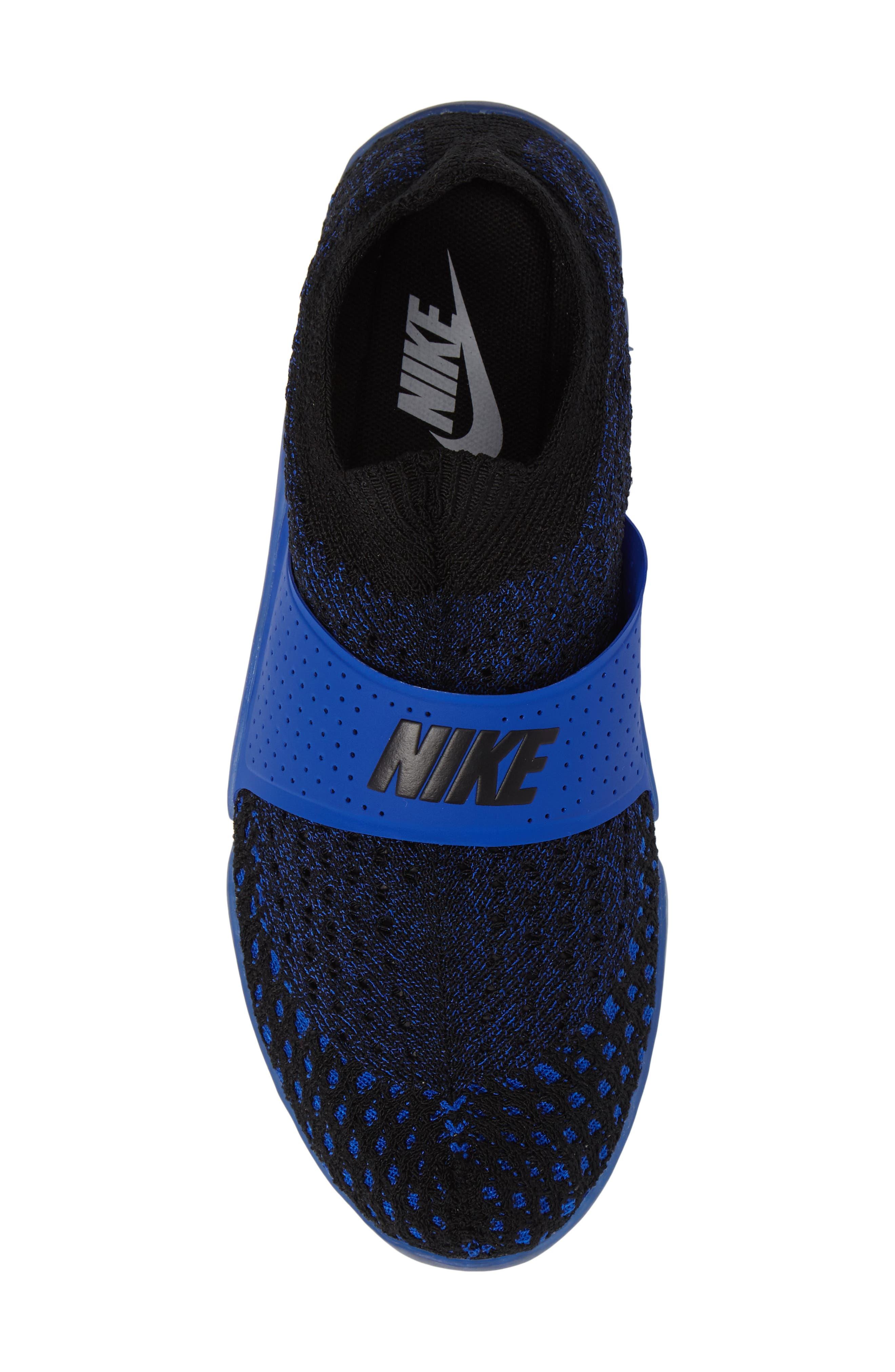 City Knife 3 Flyknit Sneaker,                             Alternate thumbnail 5, color,                             Racer Blue/ Black/ Black