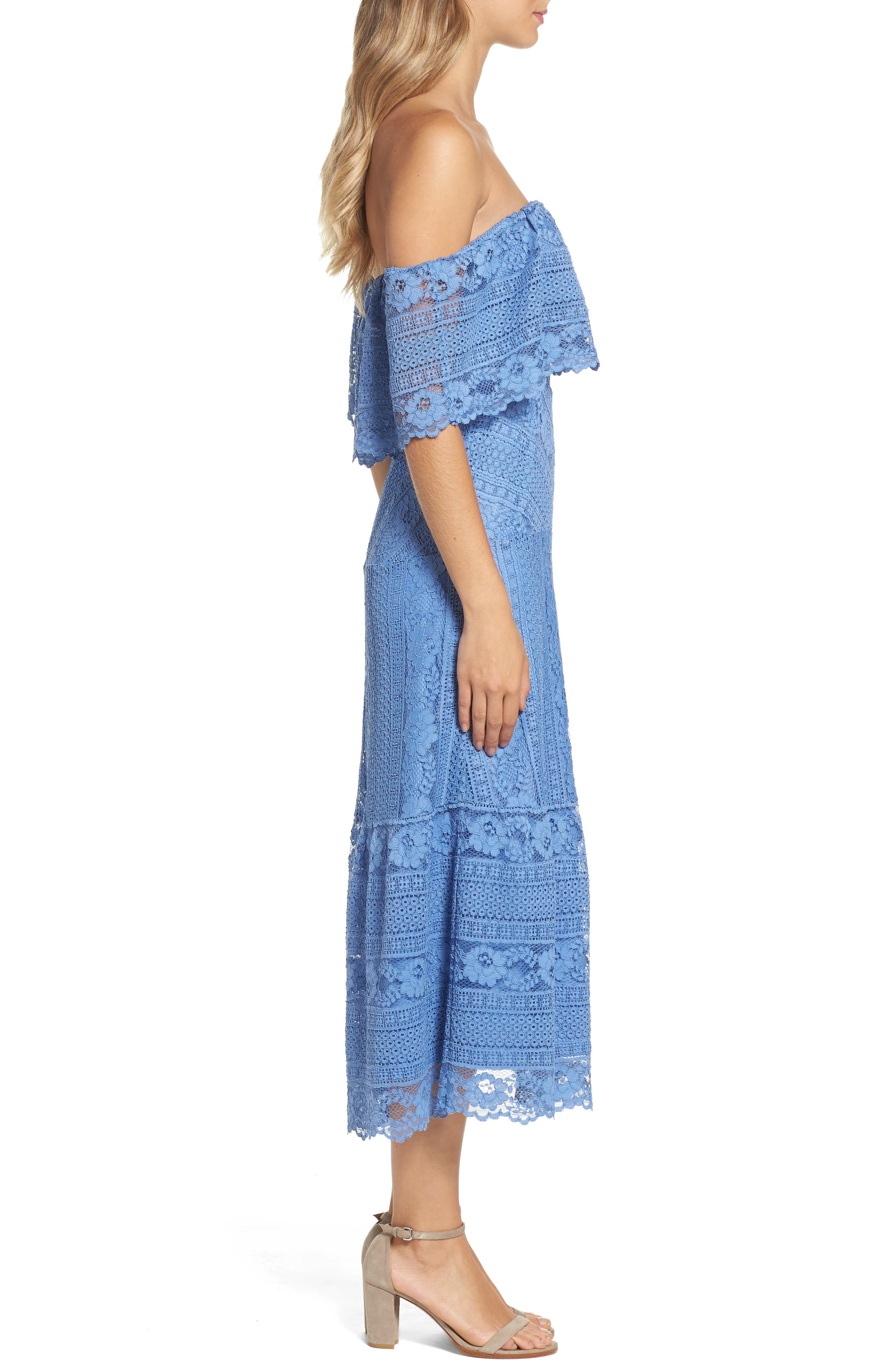 Alternate Image 3  - BB Dakota Katie Lace Midi Dress