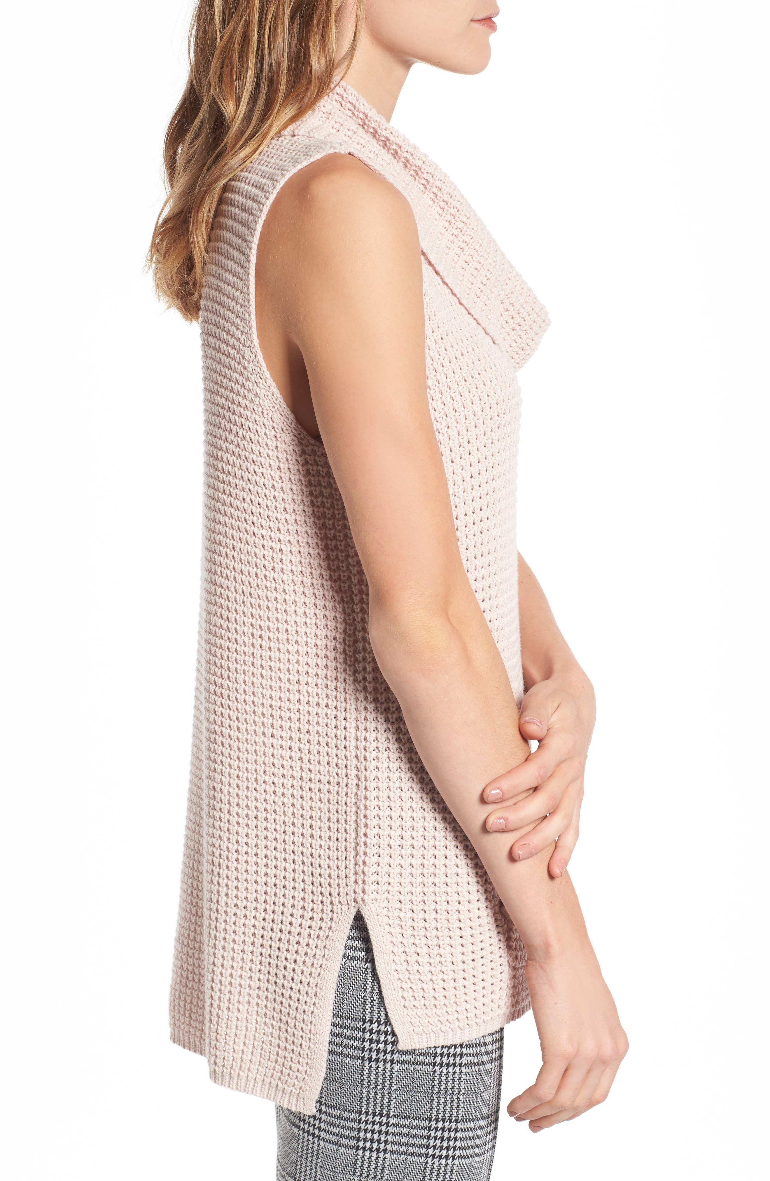 Alternate Image 4  - Two by Vince Camuto Waffle Stitch Vest (Regular & Petite)