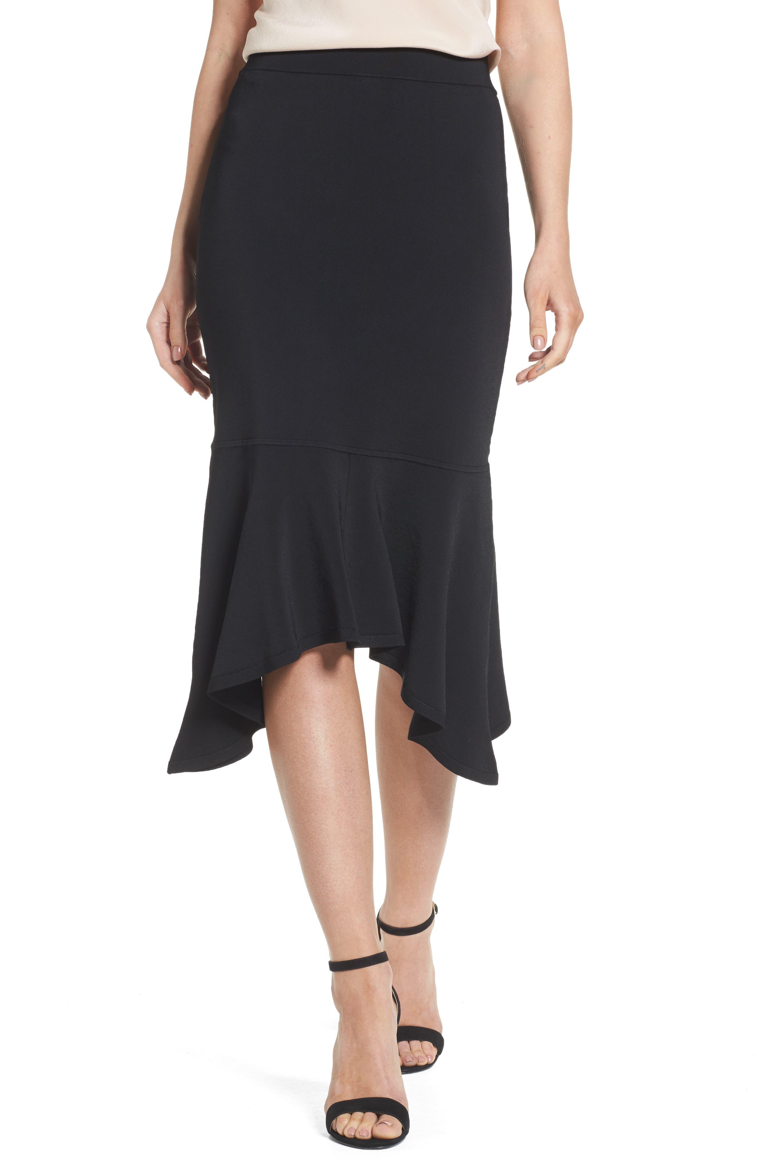 Main Image - Trouvé Asymmetrical Midi Skirt