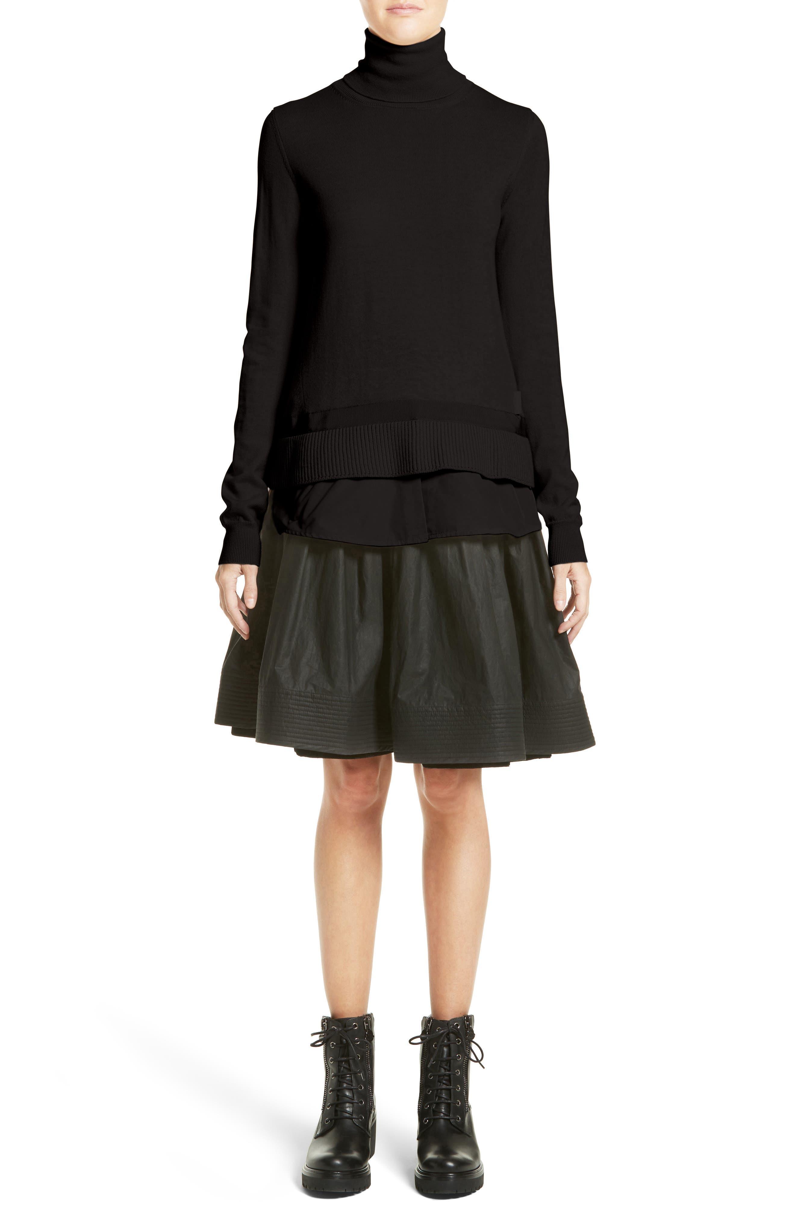 Alternate Image 7  - Moncler Gonna Cotton A-Line Skirt