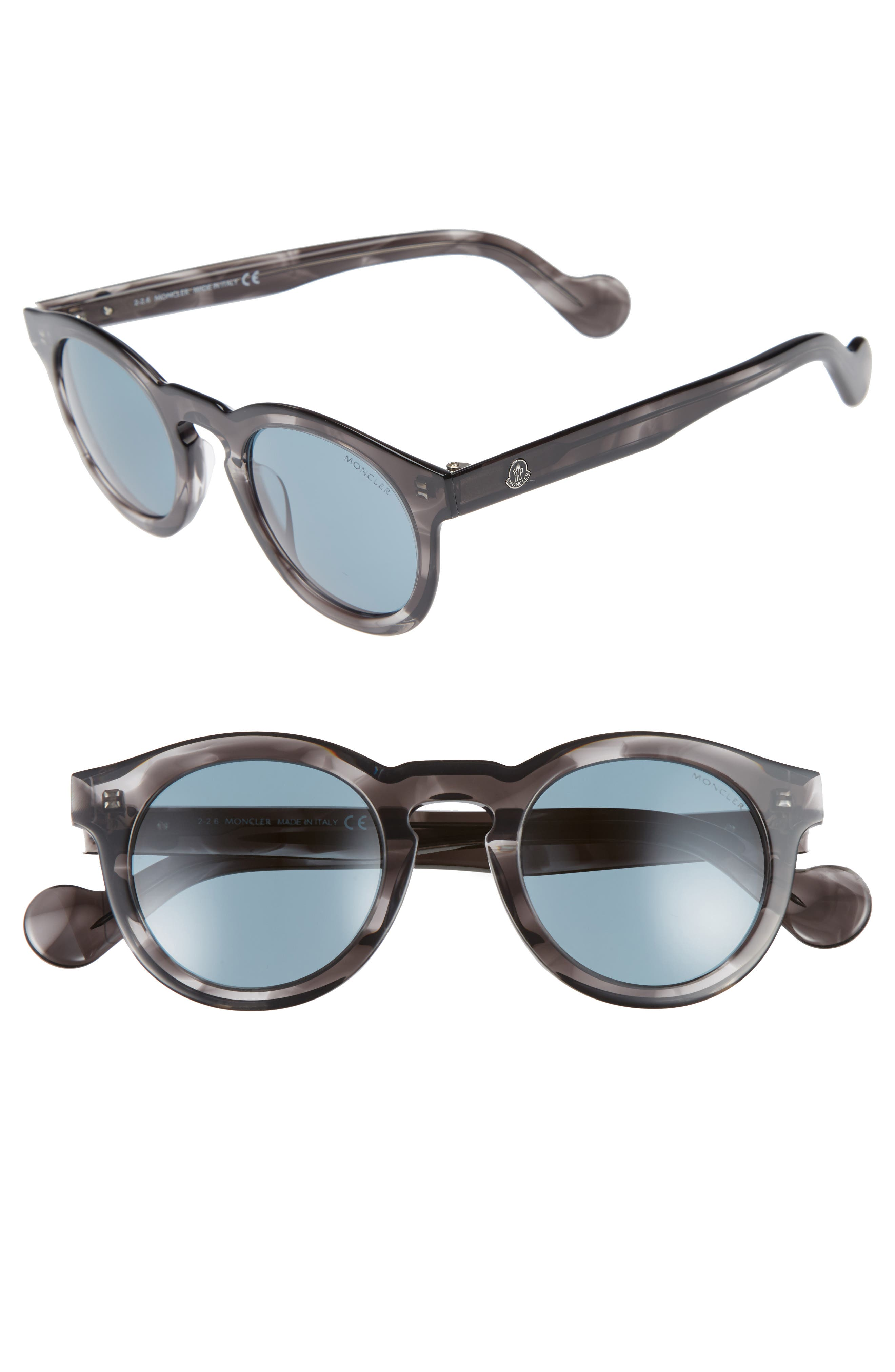 49mm Keyhole Sunglasses,                             Main thumbnail 1, color,                             Grey/ Other/ Blue