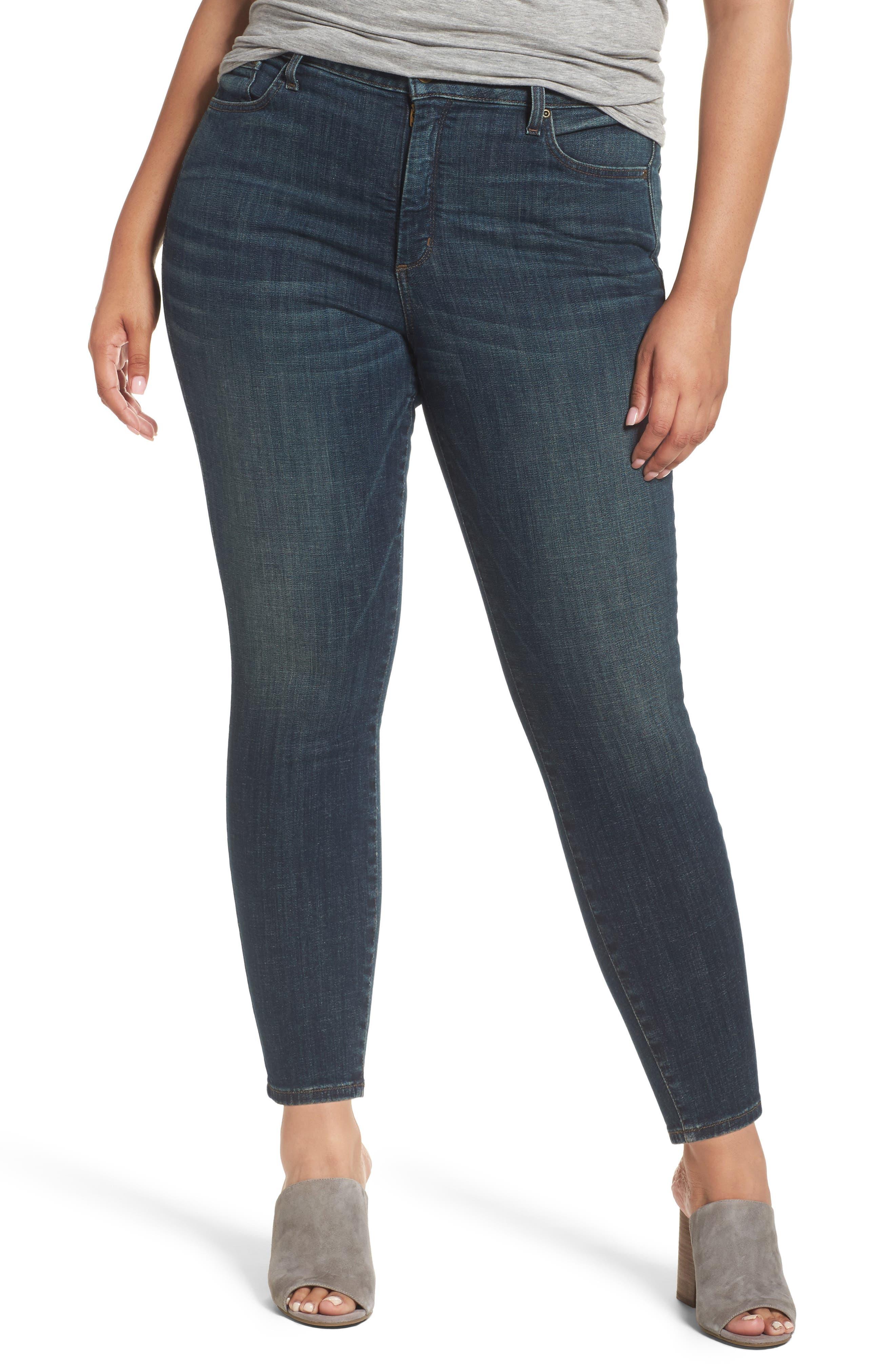 NYDJ Ami Stretch Skinny Jeans (Desert Gold) (Plus Size)