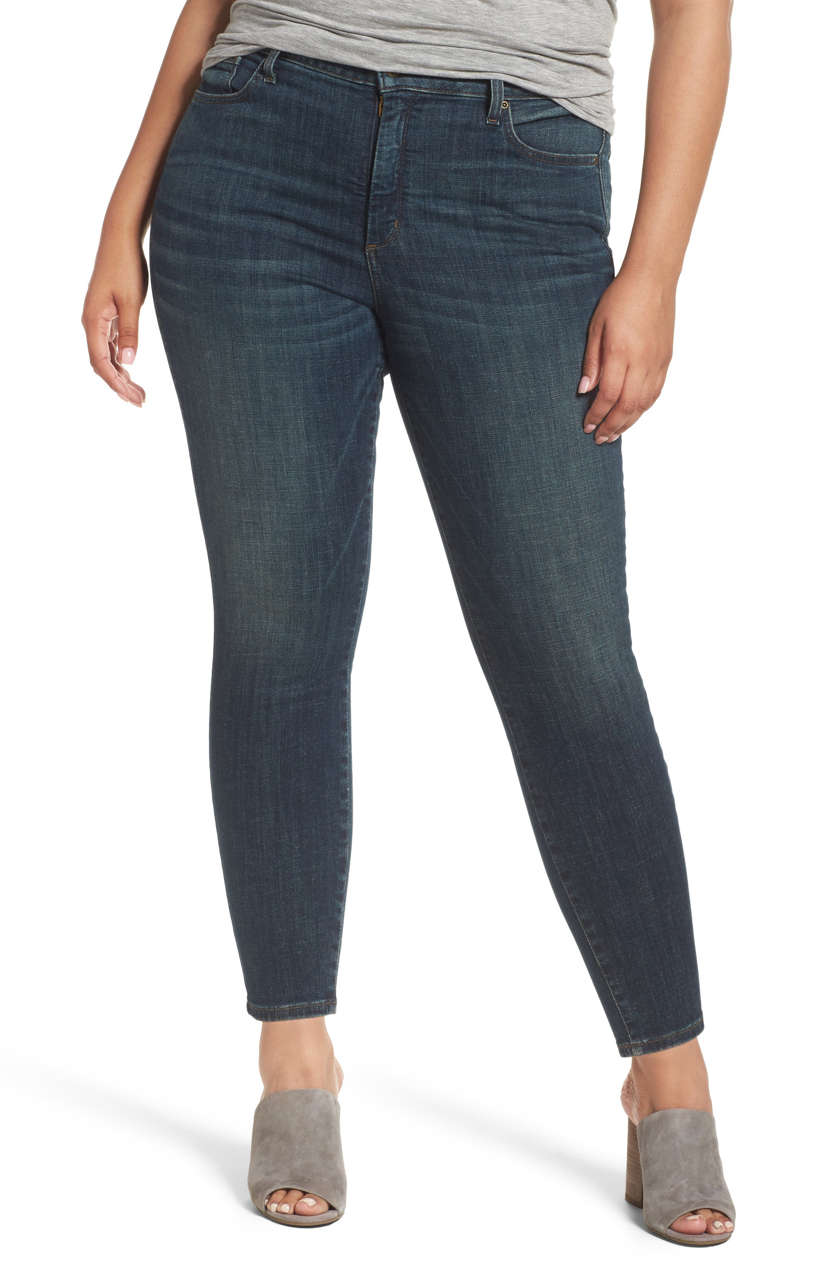 NYDJ Ami Stretch Skinny Jeans (Desert Gold) (Plus Size)