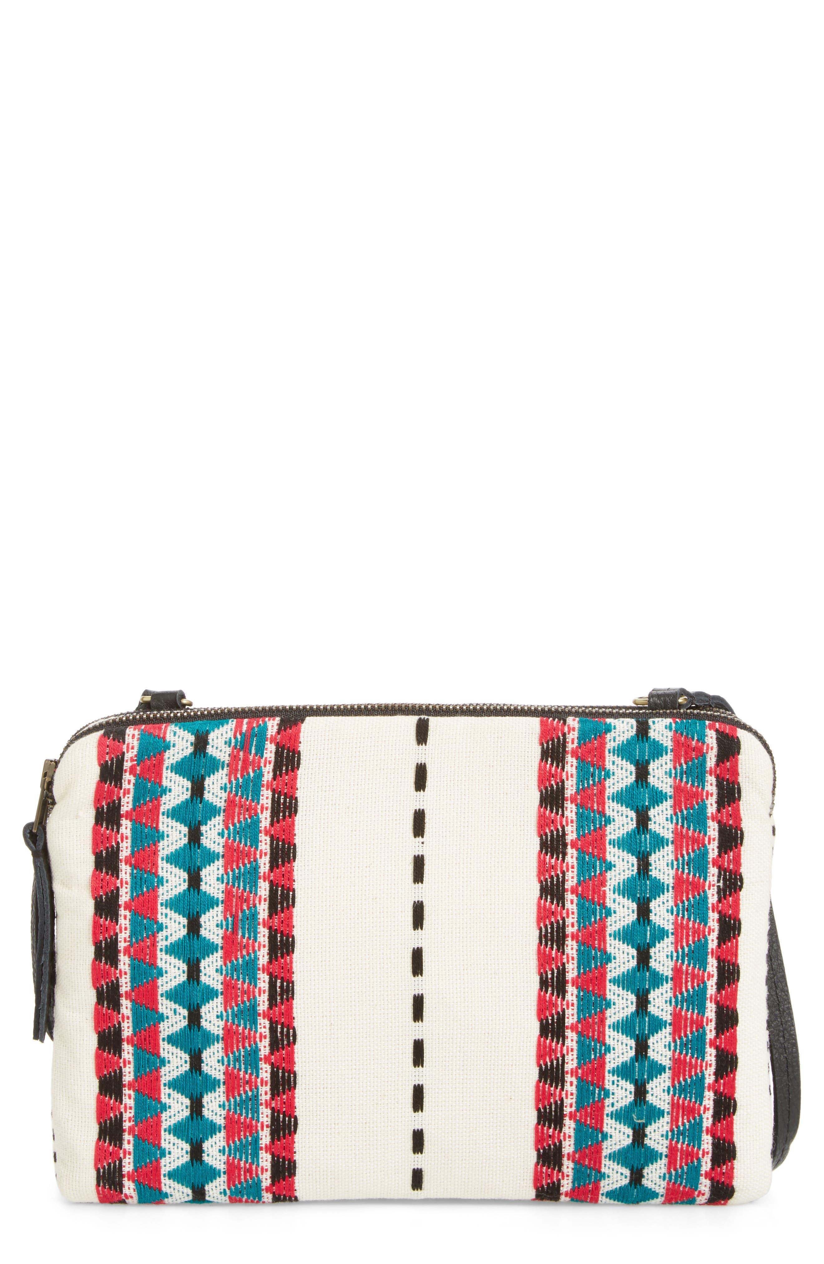 Alternate Image 1 Selected - Mercado Global Andrea Canvas Crossbody Bag
