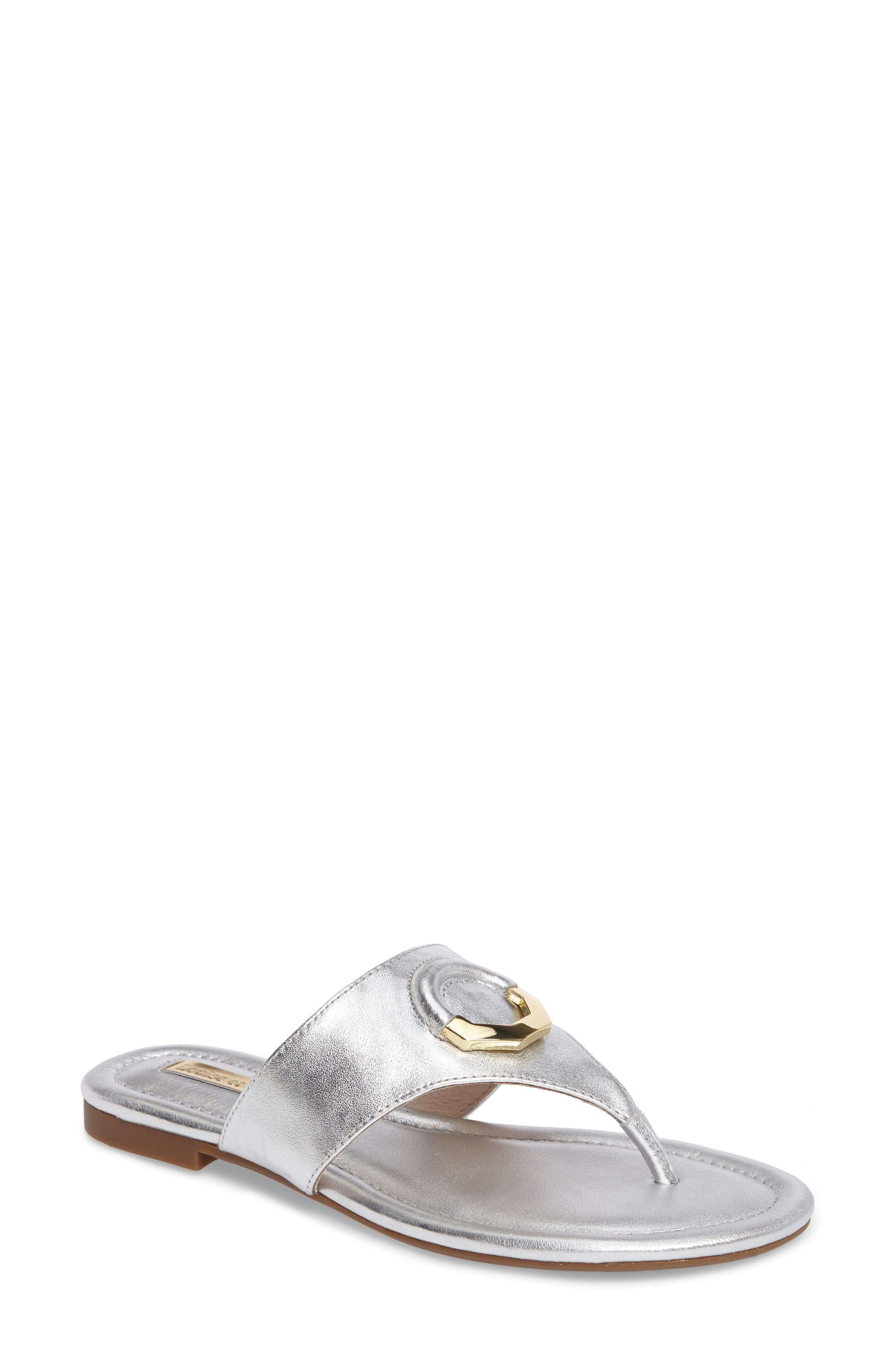 Adana Flip Flop,                         Main,                         color, Sterling Leather