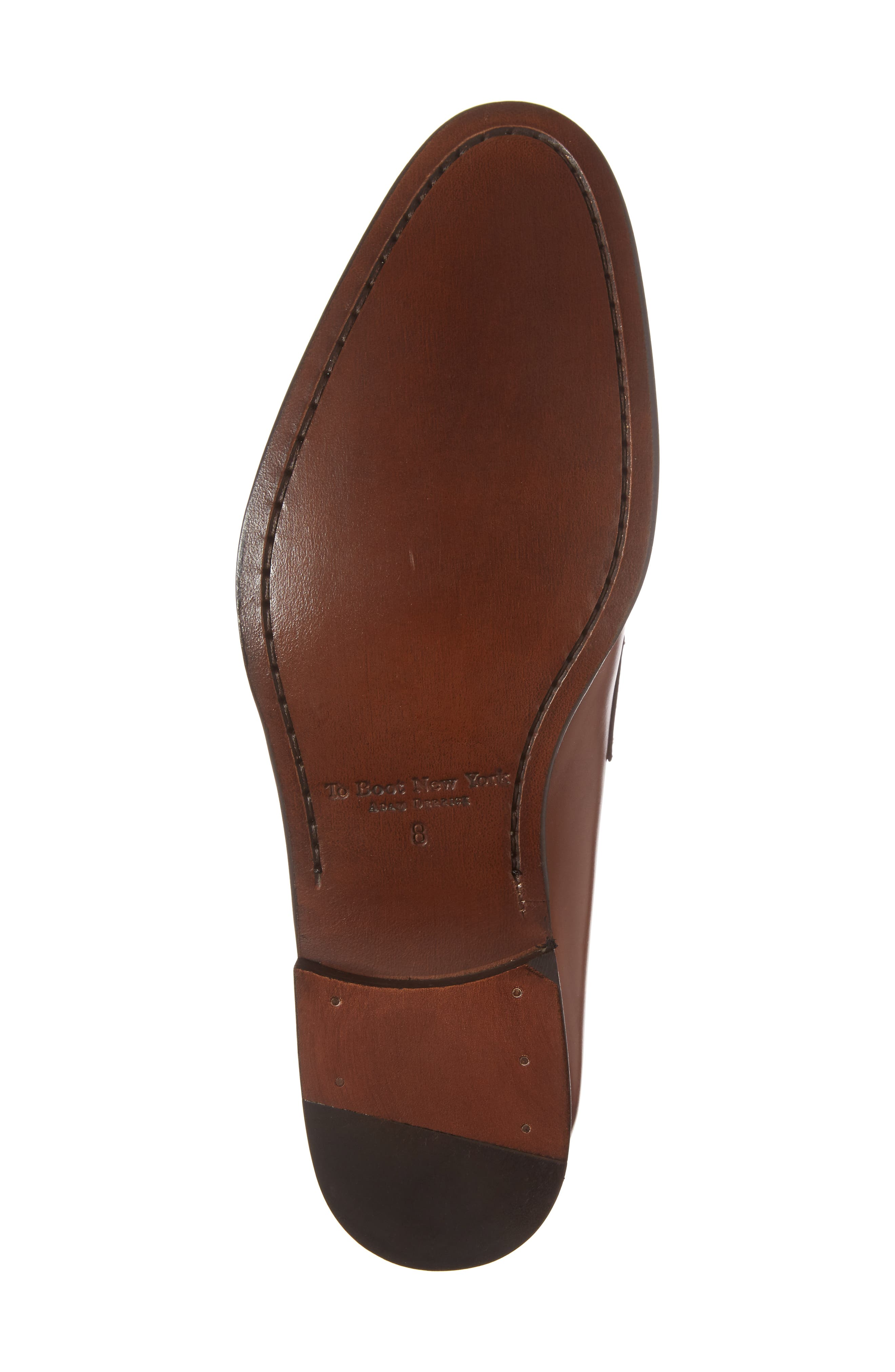 Francis Penny Loafer,                             Alternate thumbnail 6, color,                             Brown Leather