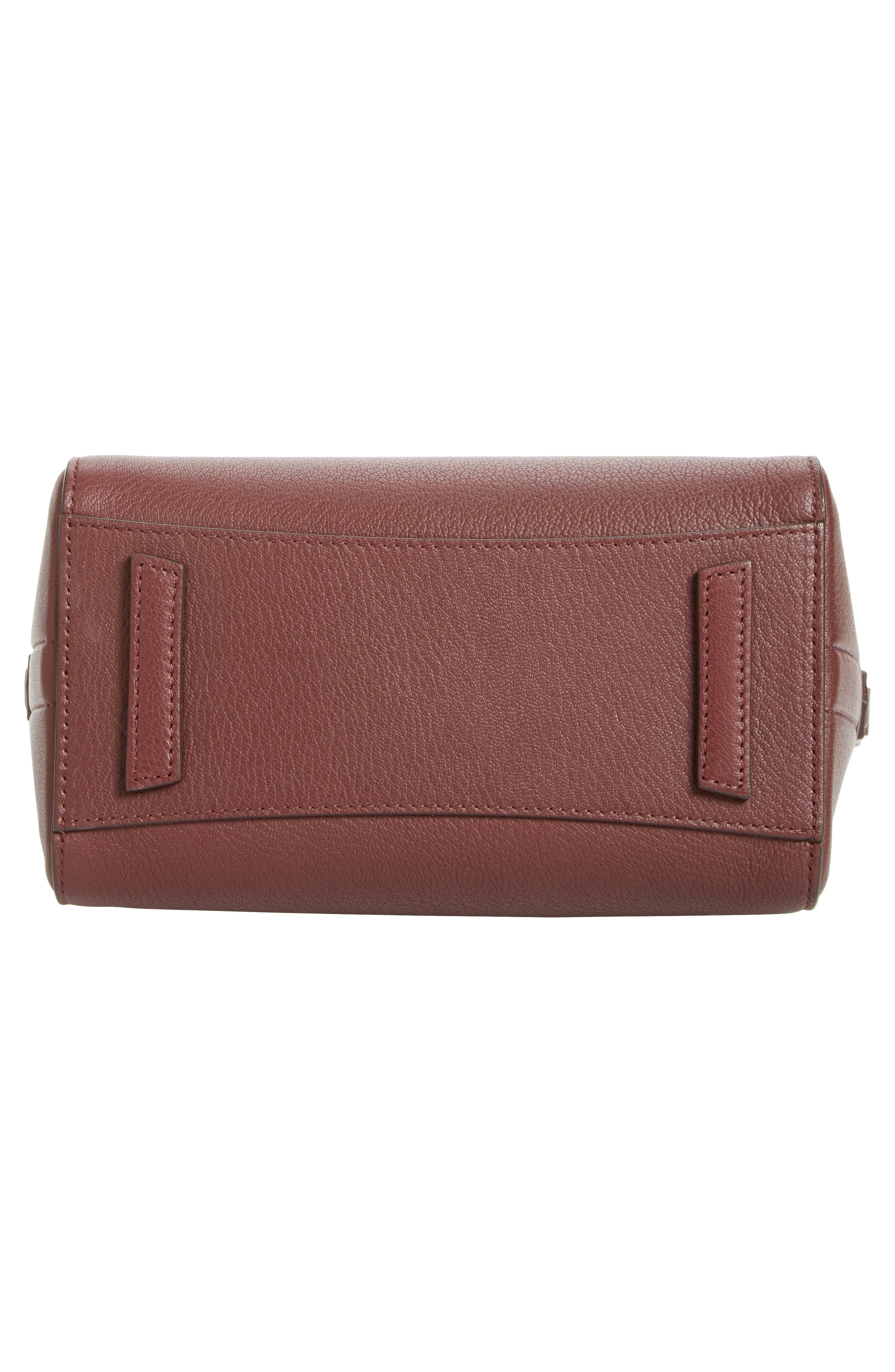 Mini Antigona Leather Top Handle Satchel,                             Alternate thumbnail 6, color,                             Burgundy/ Pink