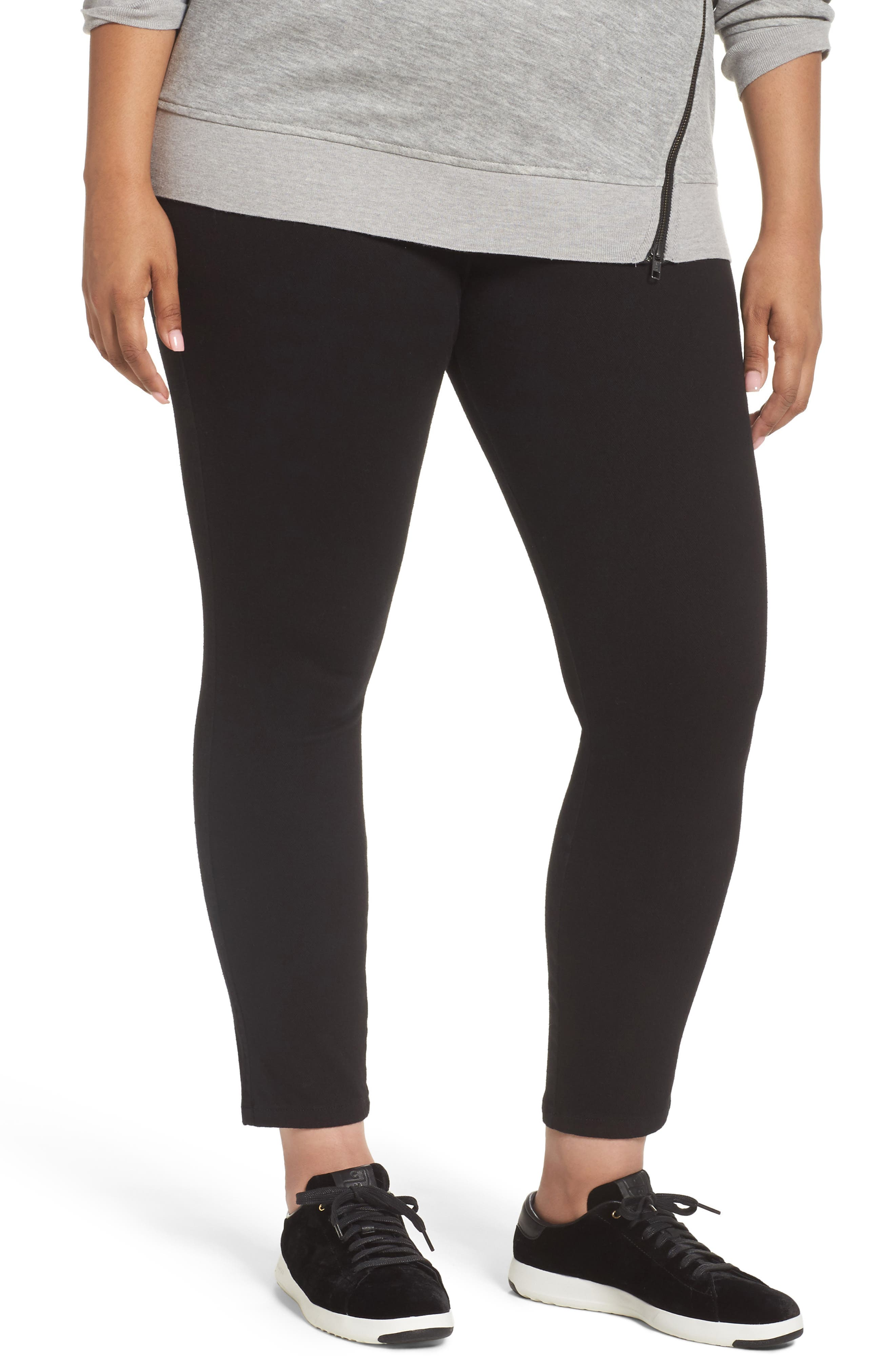 Lyssè Toothpick Denim Leggings,                         Main,                         color, Black