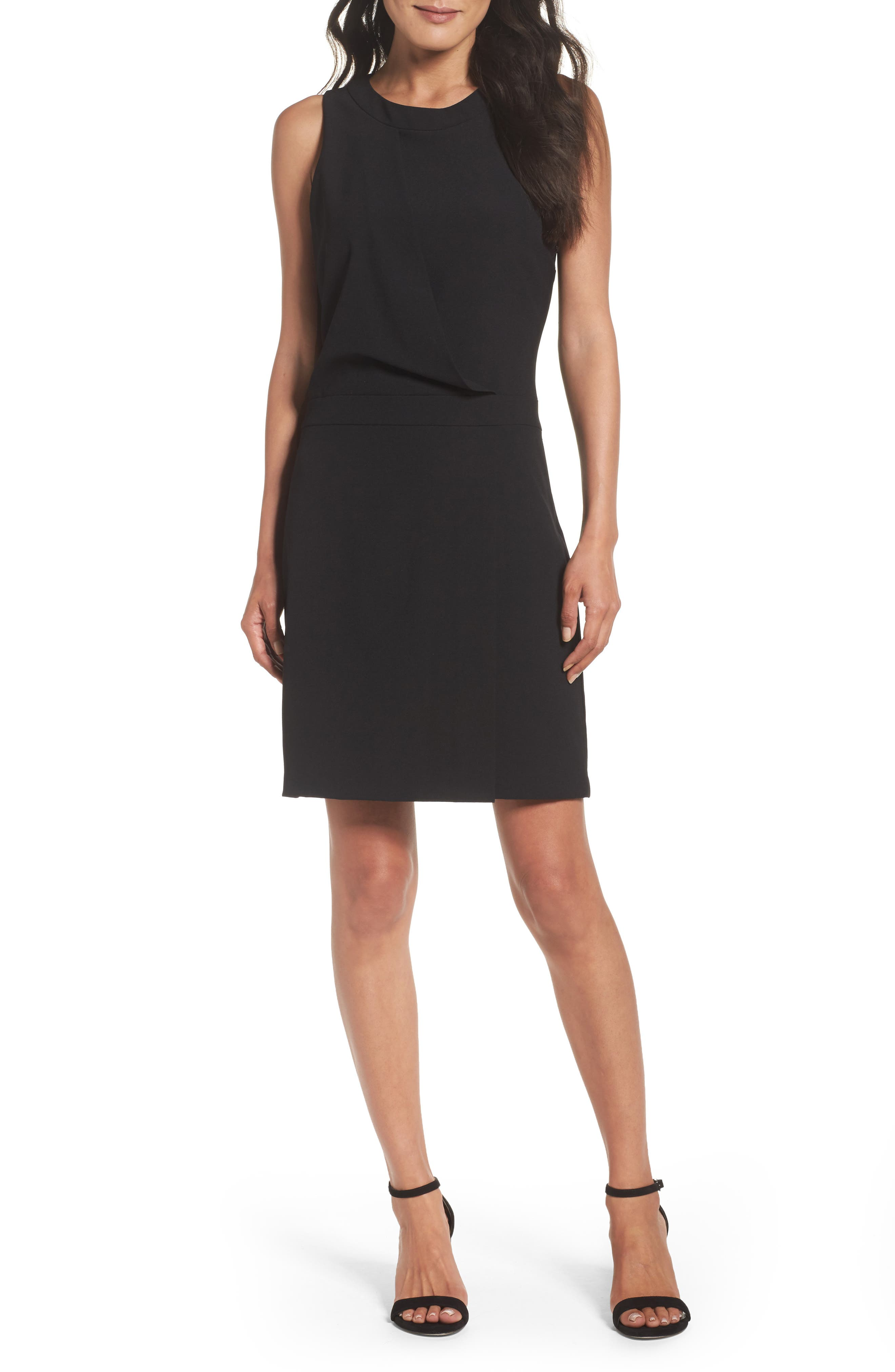 Stretch Sheath Dress,                         Main,                         color, Black