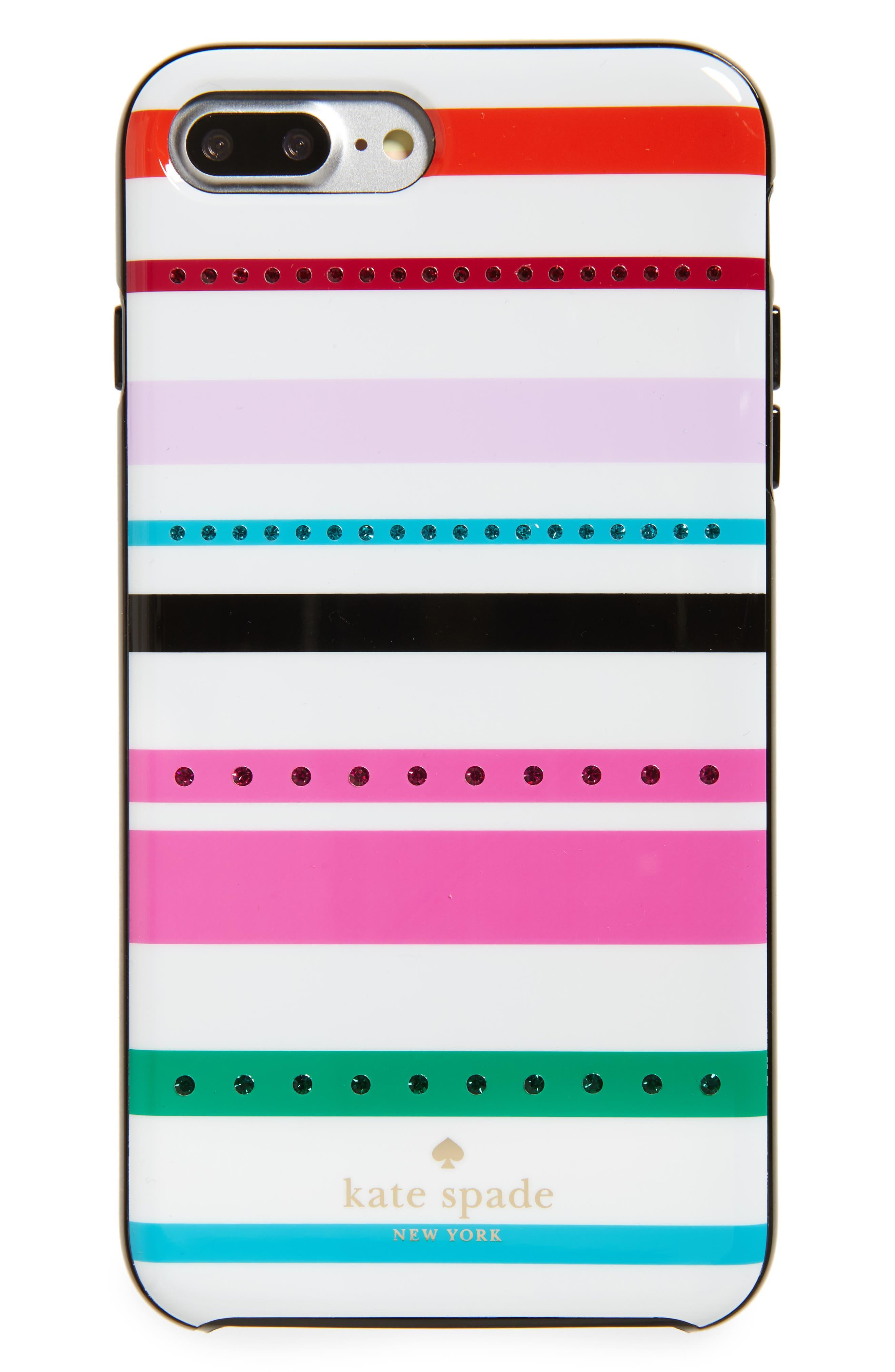 KATE SPADE NEW YORK jeweled fiesta stripe iPhone 7 & 7 Plus case